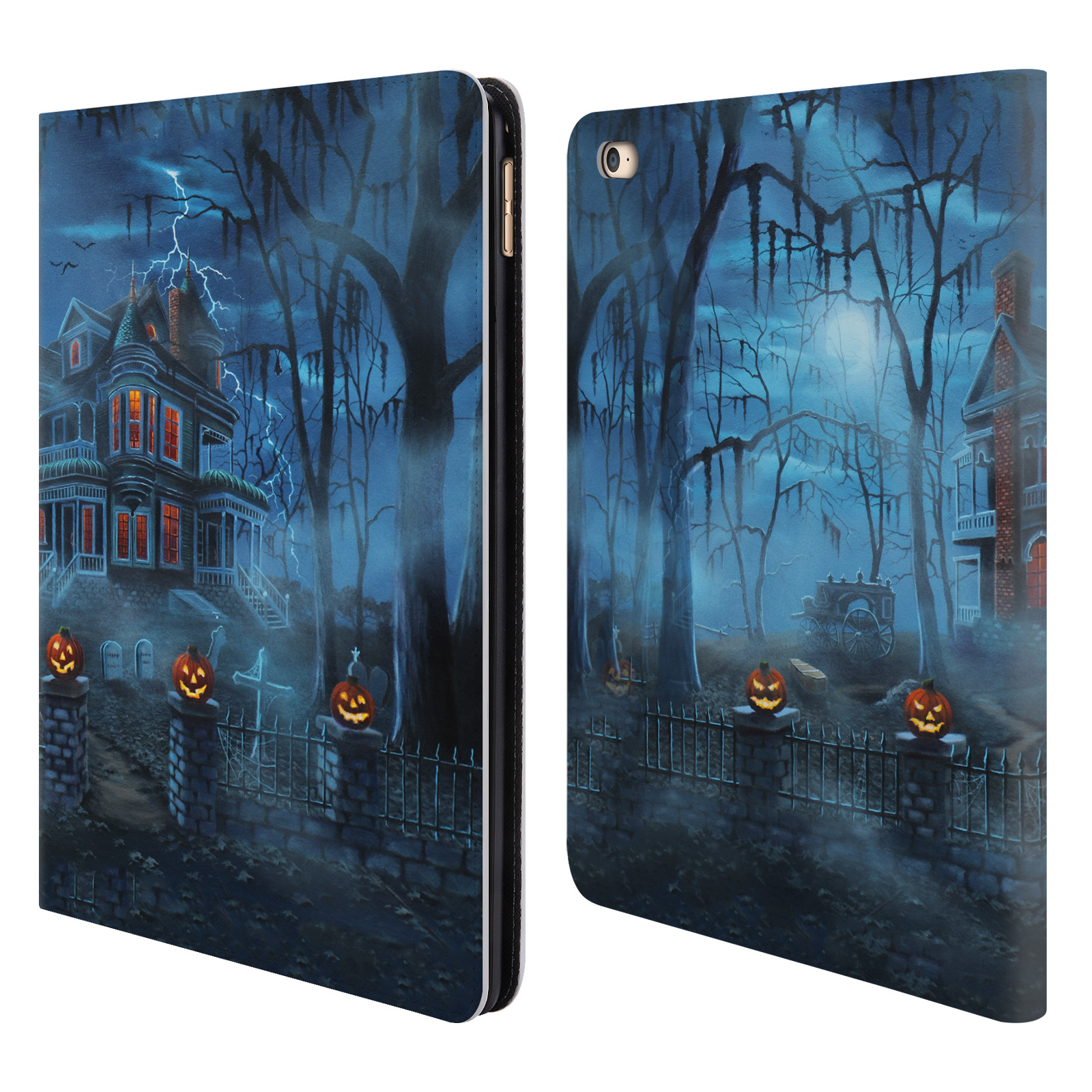 OFFICIAL-GENO-PEOPLES-ART-HALLOWEEN-LEATHER-BOOK-WALLET-CASE-FOR-APPLE-iPAD