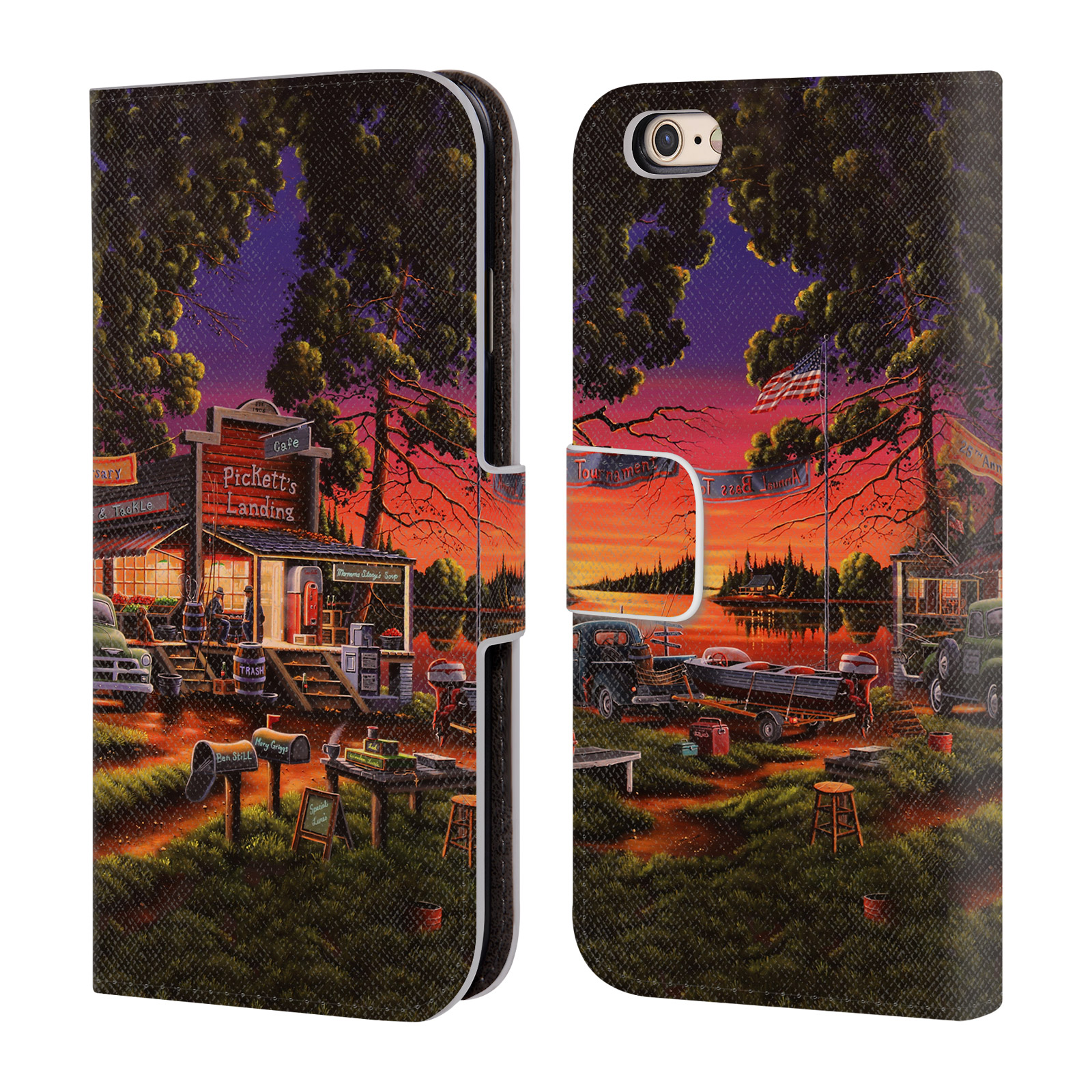 OFFICIAL-GENO-PEOPLES-ART-HALLOWEEN-LEATHER-BOOK-CASE-FOR-APPLE-iPHONE-PHONES