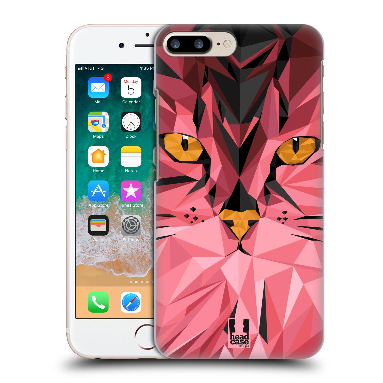 HEAD CASE plastový obal na mobil Apple Iphone 7 PLUS vzor Geometrická zvířata kočka