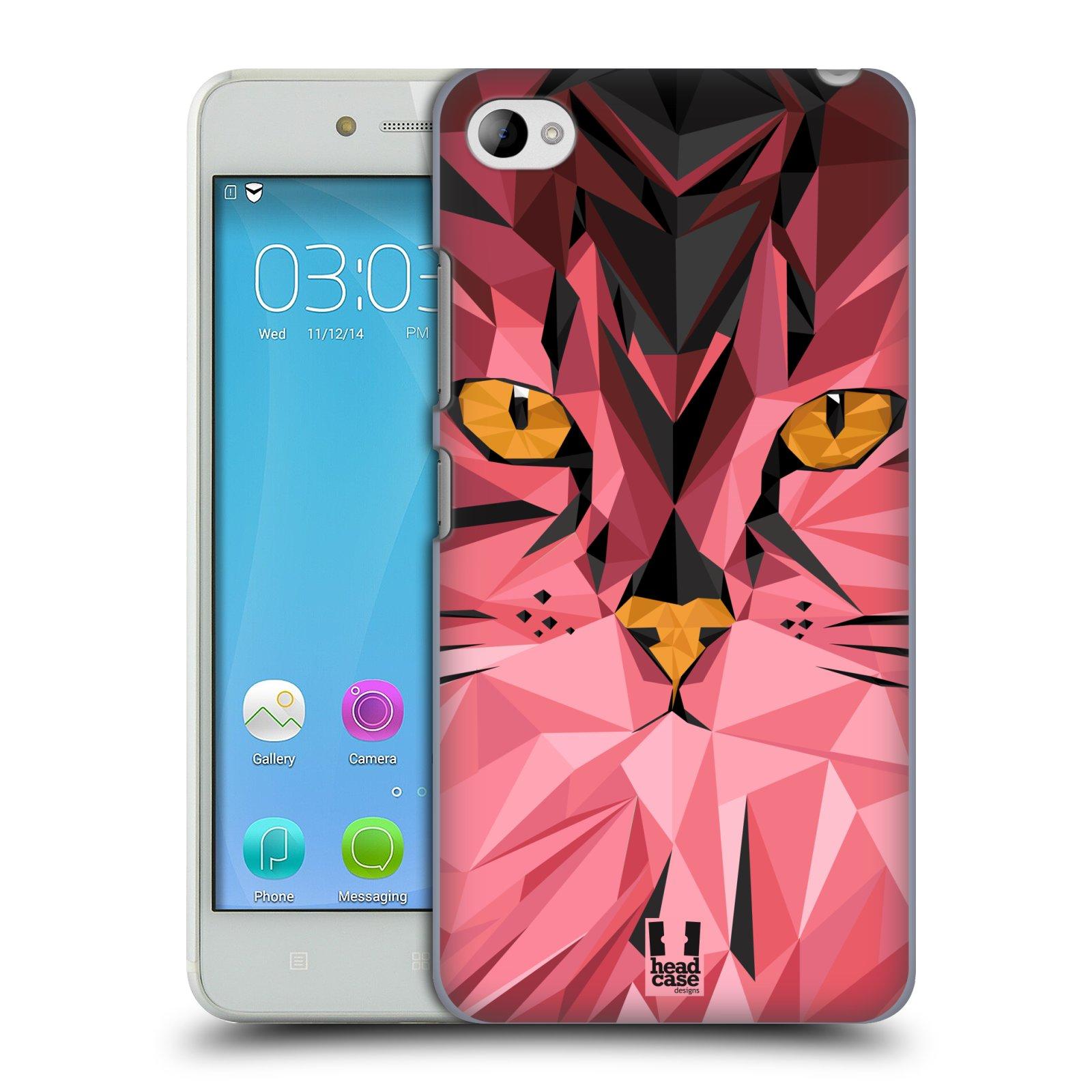 HEAD CASE pevný plastový obal na mobil LENOVO S90 vzor Geometrická zvířata kočka