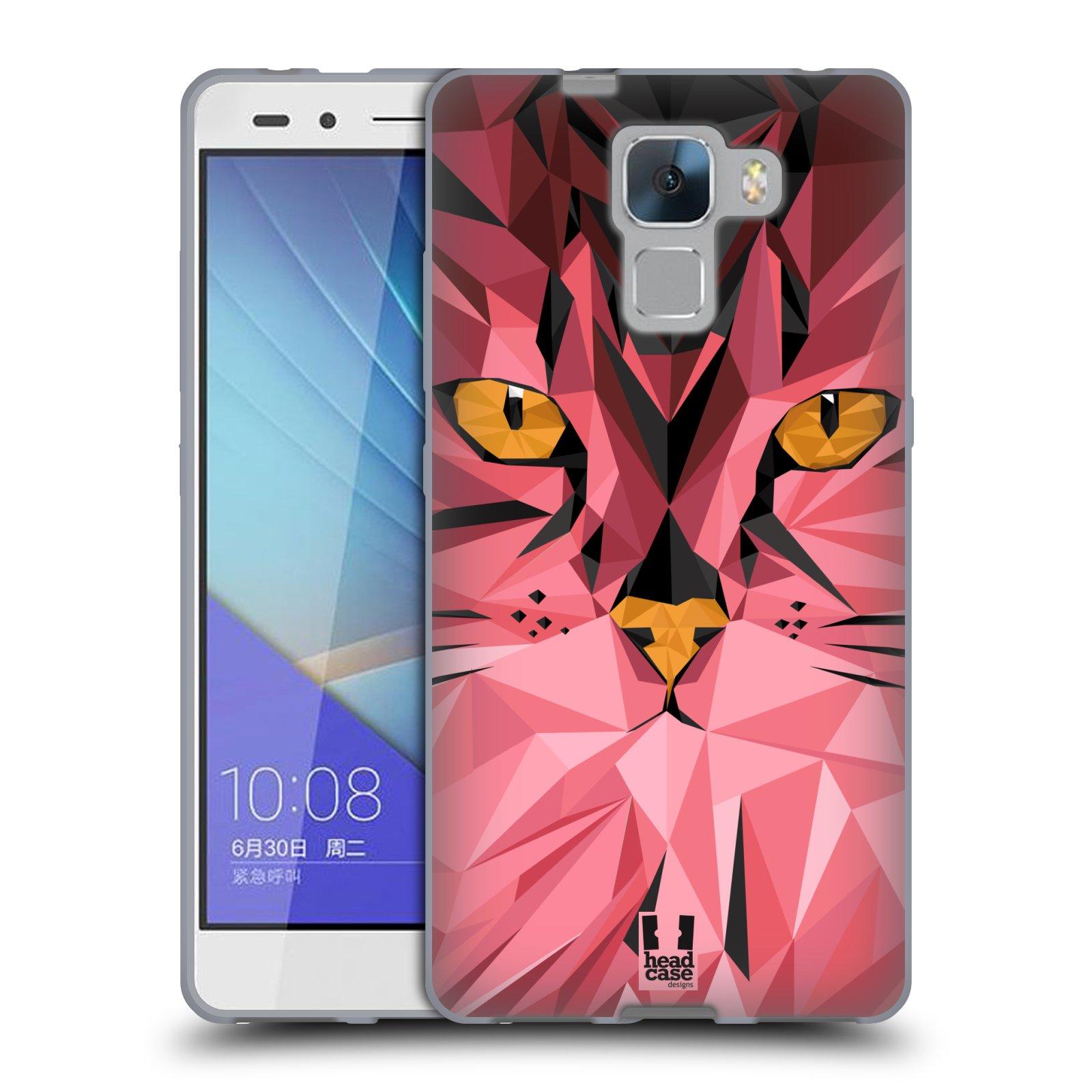 HEAD CASE silikonový obal na mobil HUAWEI HONOR 7 vzor Geometrická zvířata kočka