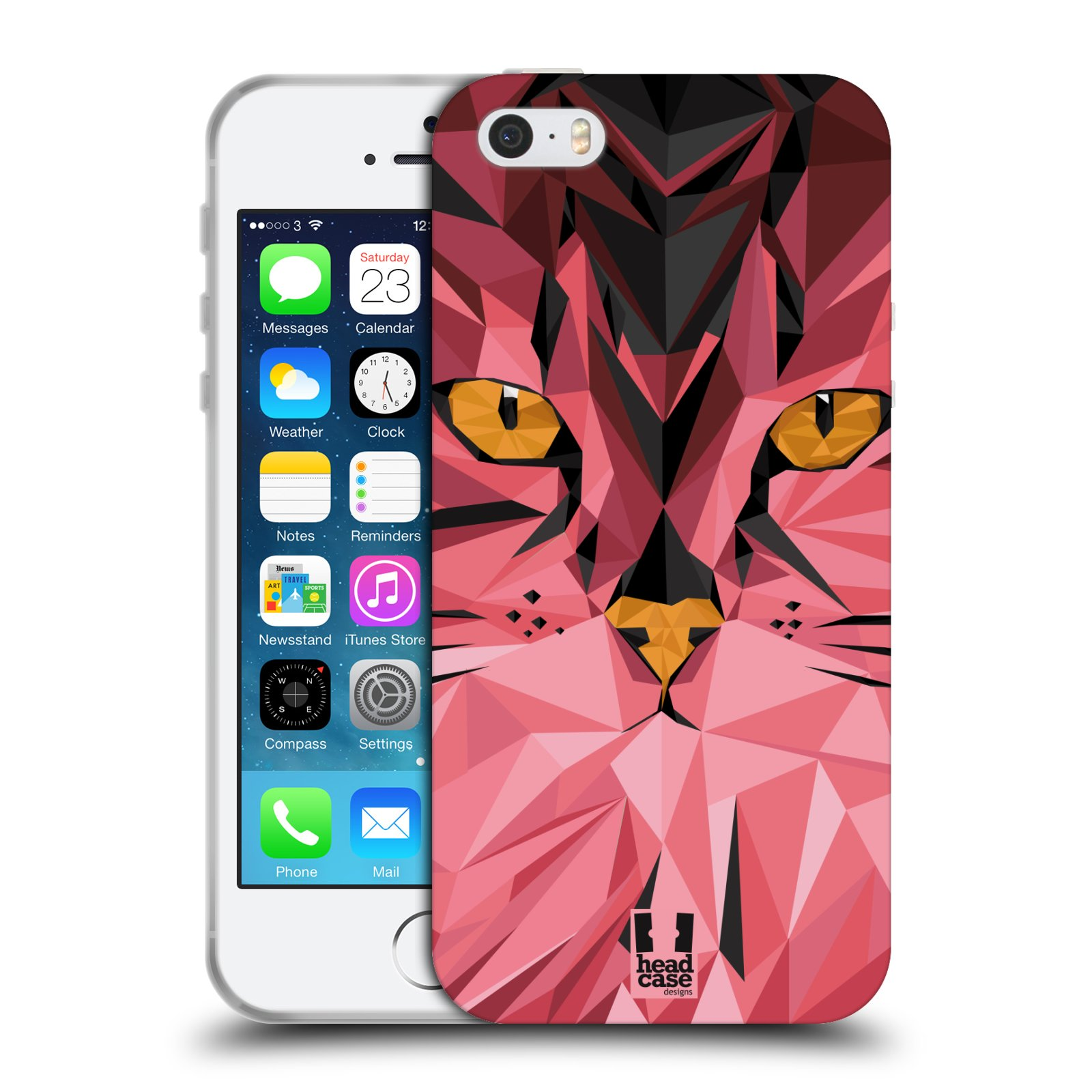 HEAD CASE silikonový obal na mobil Apple Iphone 5 5S vzor Geometrická  zvířata kočka empty 25a8875d2b6