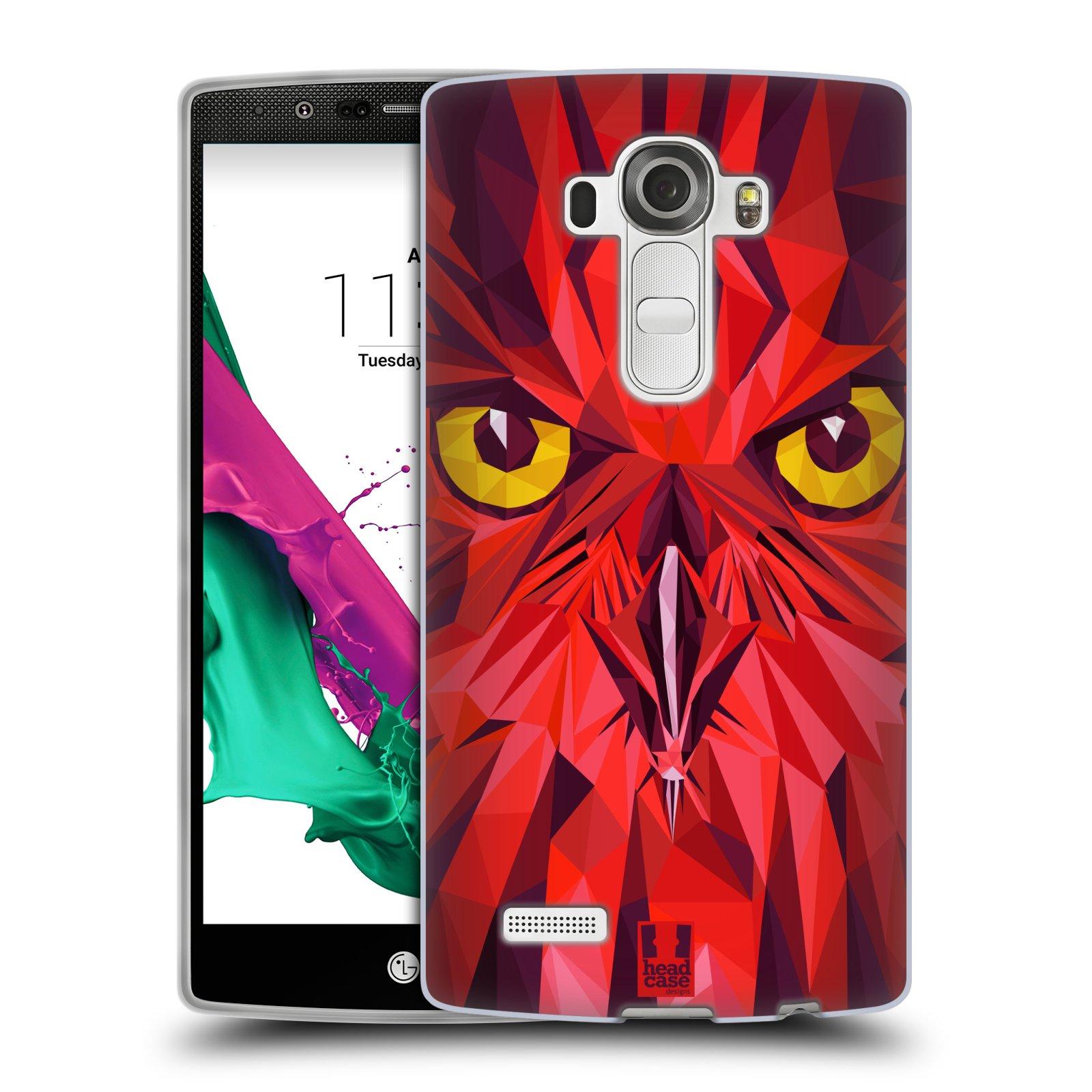 HEAD CASE silikonový obal na mobil LG G4 vzor Geometrická zvířata sova