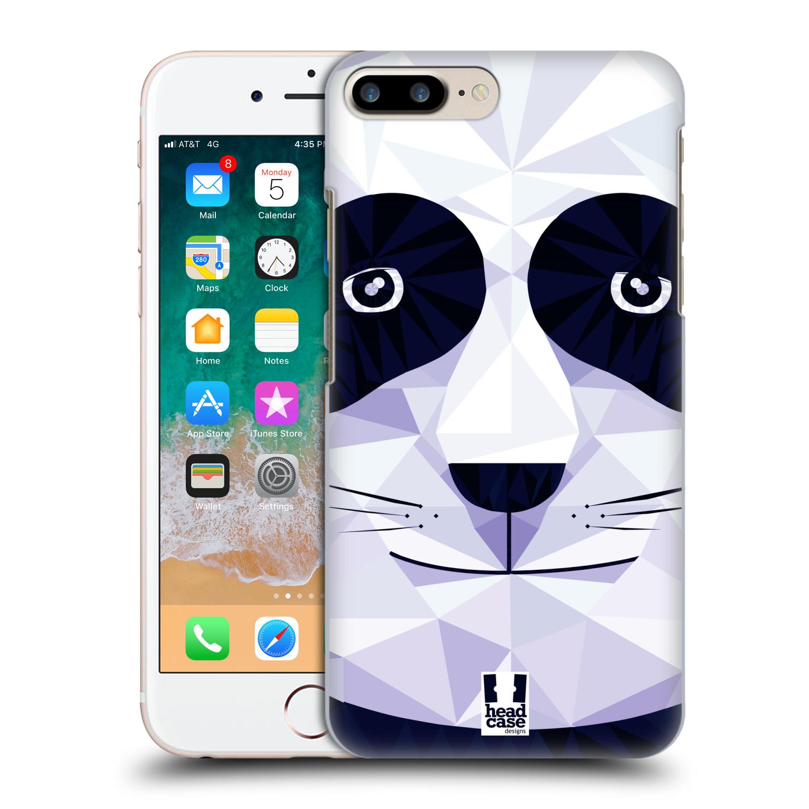 HEAD CASE plastový obal na mobil Apple Iphone 7 PLUS vzor Geometrická zvířata panda