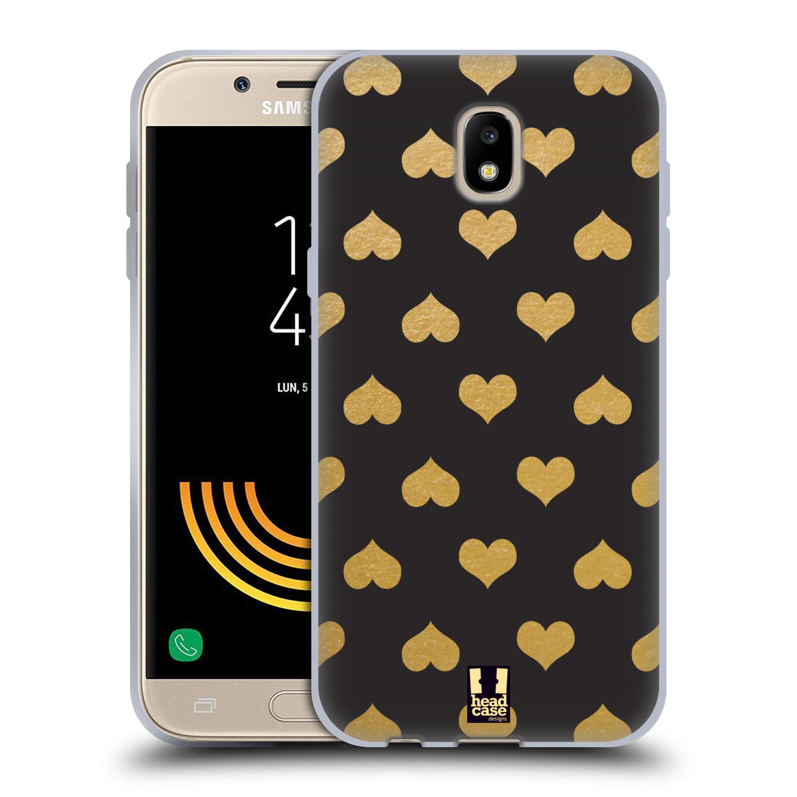 HEAD CASE silikonový obal na mobil Samsung Galaxy J5 2017 vzor ZLATÉ SRDÍČKA