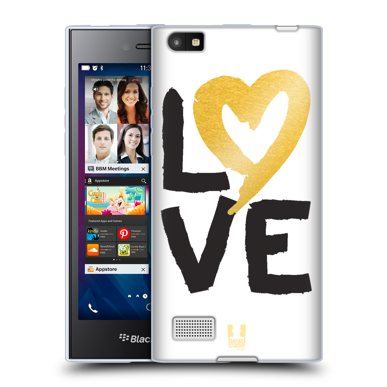HEAD CASE DESIGNS GRAND AS GOLD SOFT GEL CASE FOR BLACKBERRY PHONES