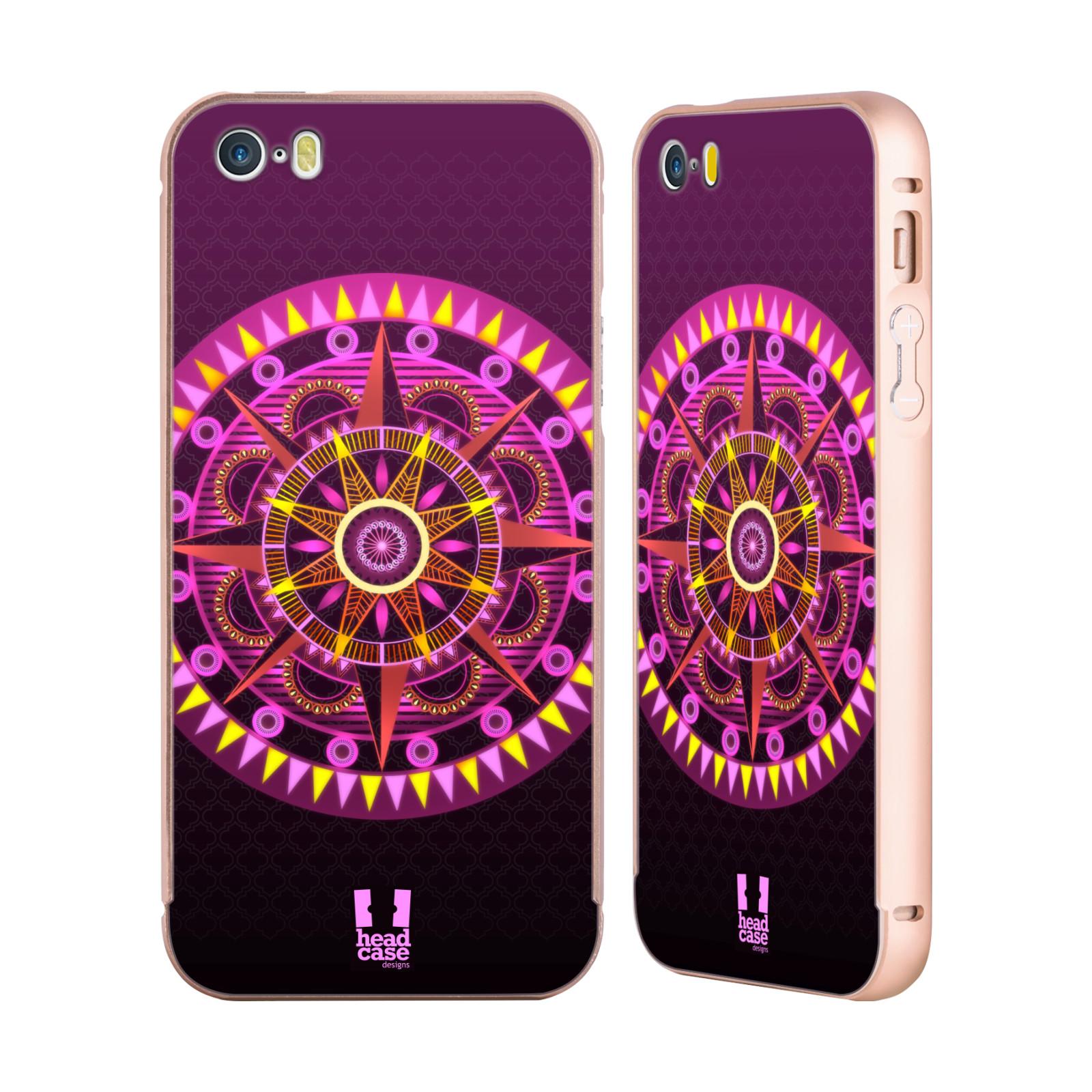 HEAD-CASE-DESIGNS-MANDALA-BRILLANTE-ORO-COVER-CONTORNO-PER-APPLE-iPHONE-TELEFONI