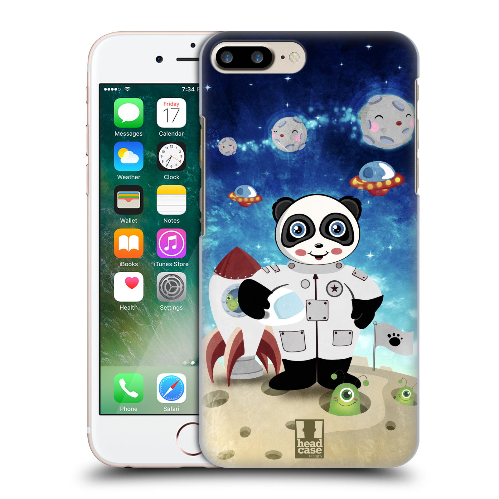 HEAD CASE plastový obal na mobil Apple Iphone 7 PLUS vzor Zvířecí astronauti vetřelec