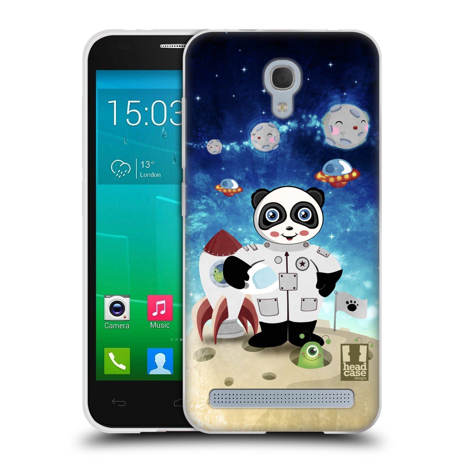 HEAD CASE silikonový obal na mobil Alcatel Idol 2 MINI S 6036Y vzor Zvířecí astronauti vetřelec