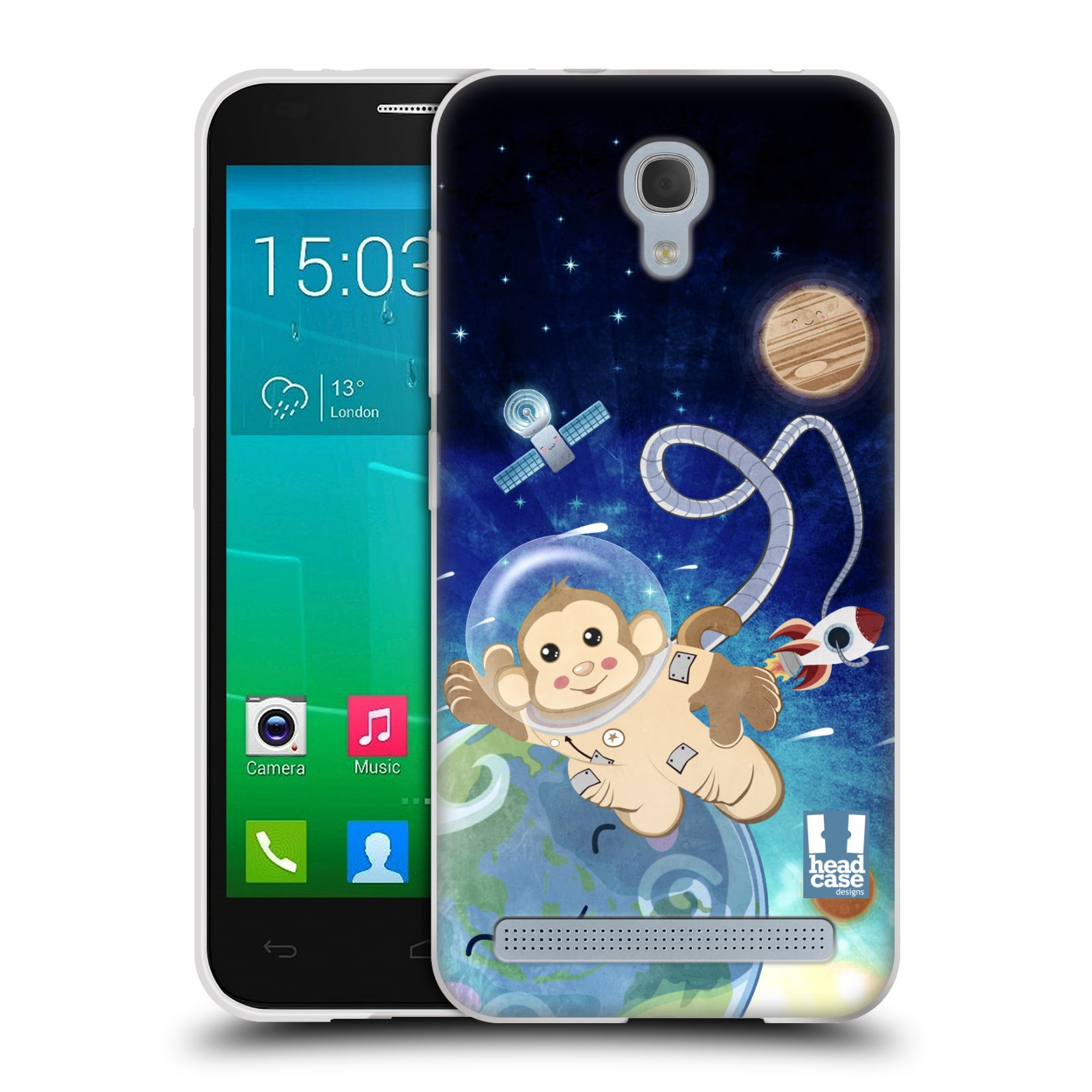 HEAD CASE silikonový obal na mobil Alcatel Idol 2 MINI S 6036Y vzor Zvířecí astronauti opička