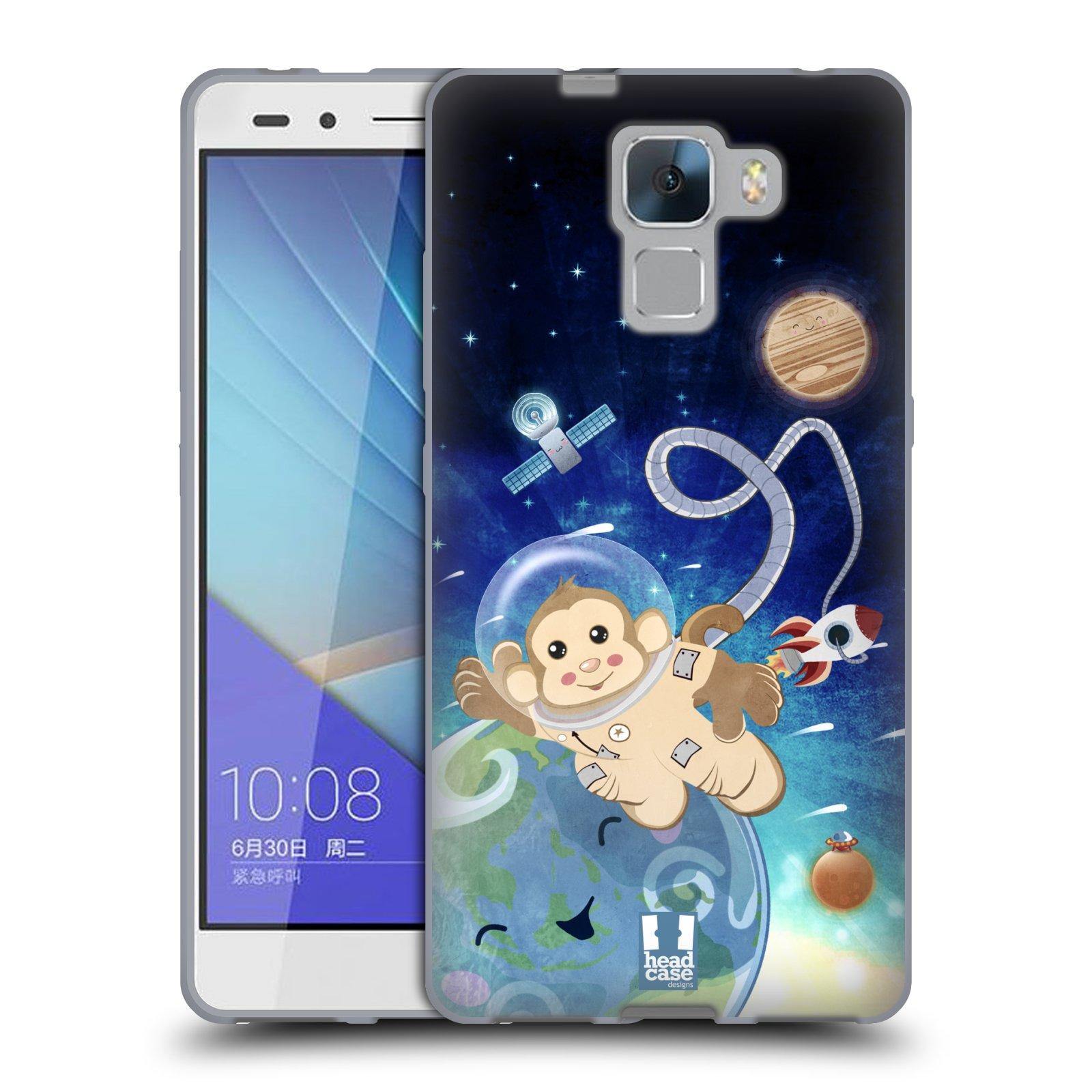 HEAD CASE silikonový obal na mobil HUAWEI HONOR 7 vzor Zvířecí astronauti opička