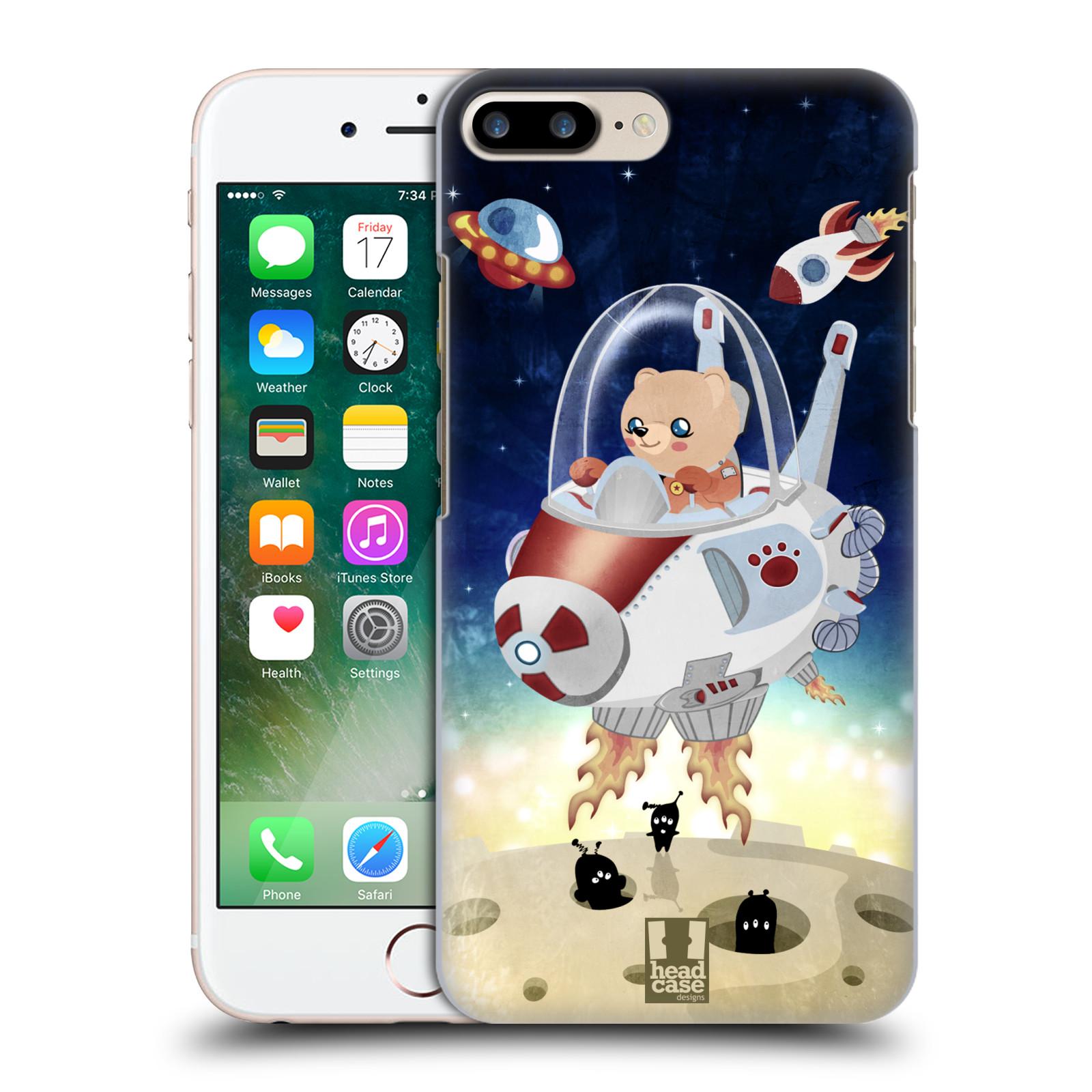 HEAD CASE plastový obal na mobil Apple Iphone 7 PLUS vzor Zvířecí astronauti medvídek