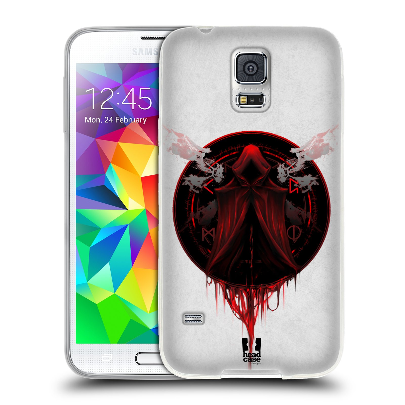 HEAD CASE GRAUENHAFT GEL CASE FÜR SAMSUNG GALAXY S5