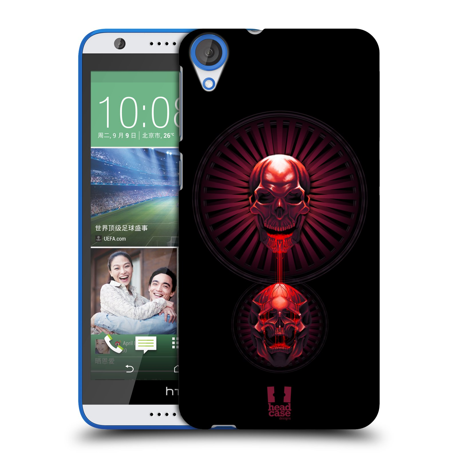 HEAD CASE DESIGNS GRIM HARD BACK CASE FOR HTC DESIRE 820