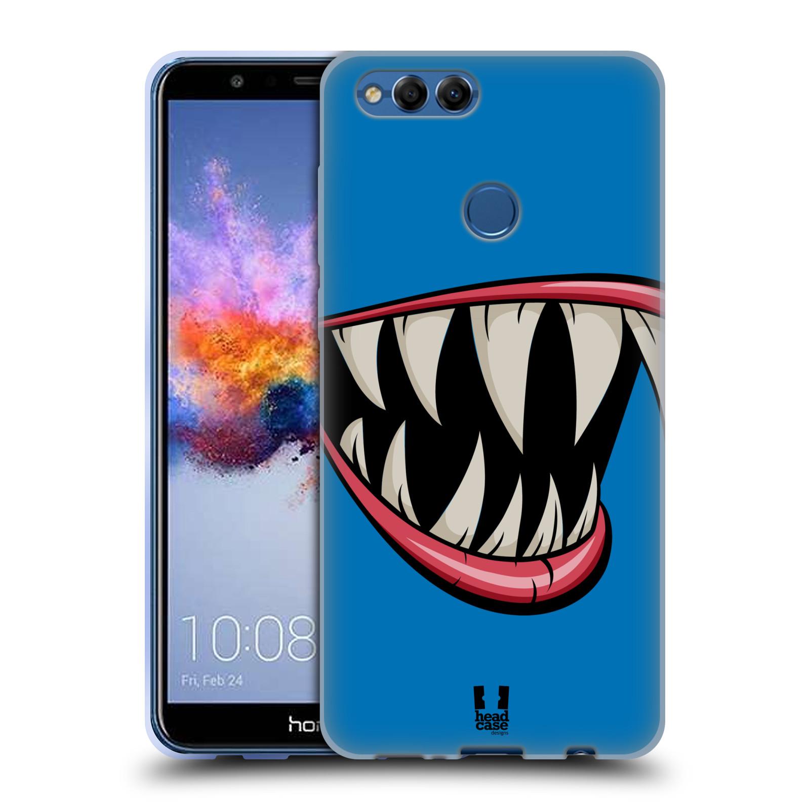 HEAD CASE silikonový obal na mobil Honor 7X vzor Zvířecí úsměv ryba modrá