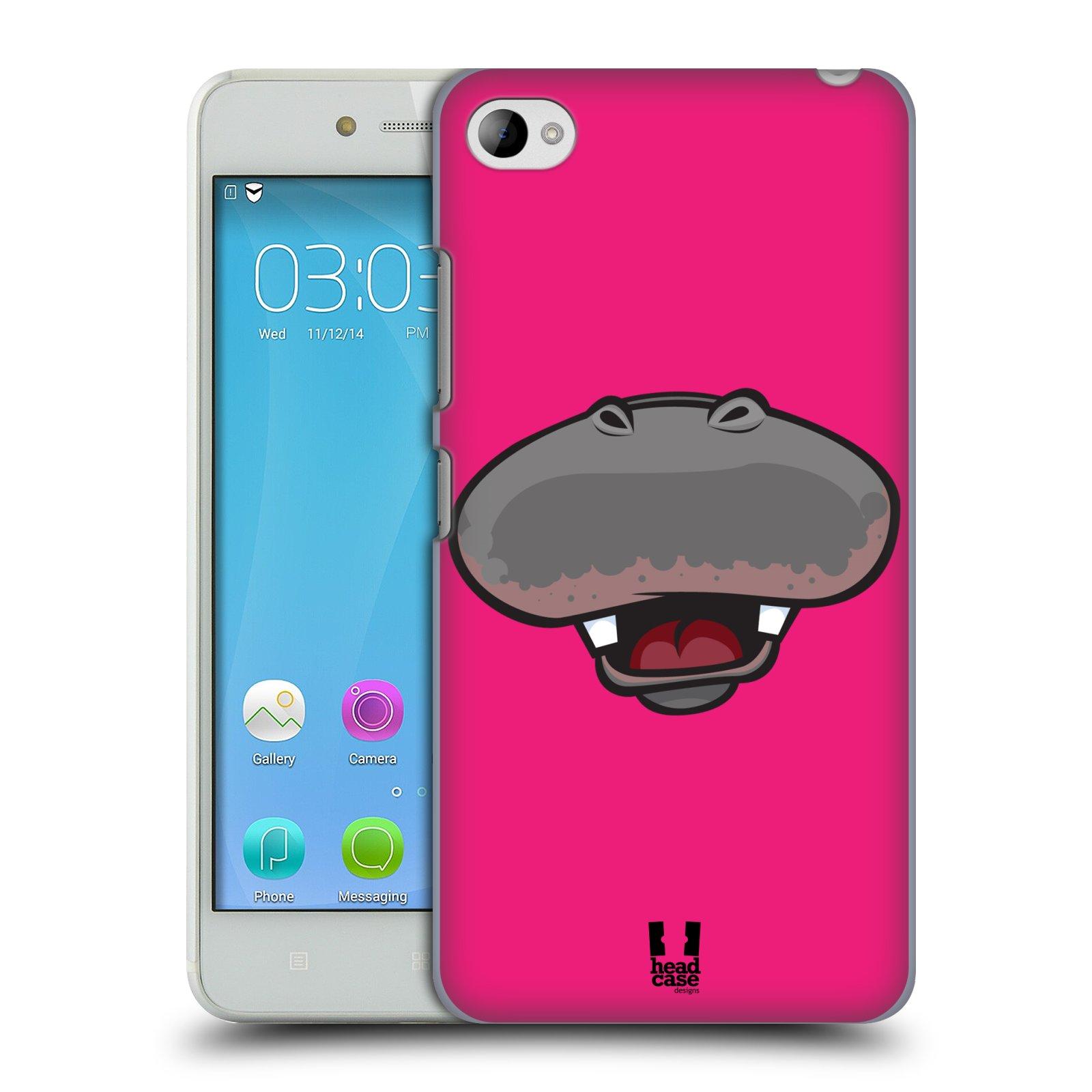 HEAD CASE pevný plastový obal na mobil LENOVO S90 vzor Zvířecí úsměv hroch růžová