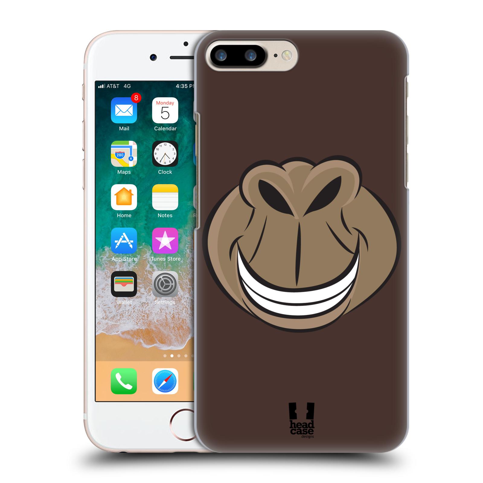 HEAD CASE plastový obal na mobil Apple Iphone 7 PLUS vzor Zvířecí úsměv opice hnědá