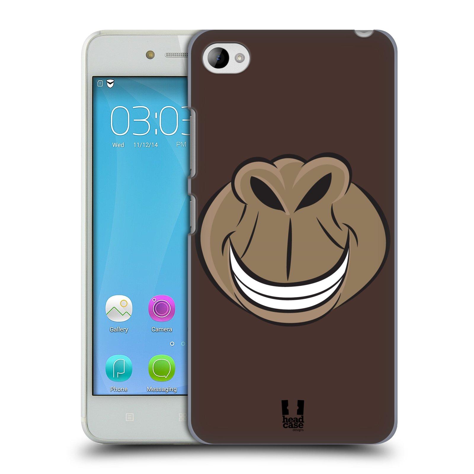 HEAD CASE pevný plastový obal na mobil LENOVO S90 vzor Zvířecí úsměv opice hnědá