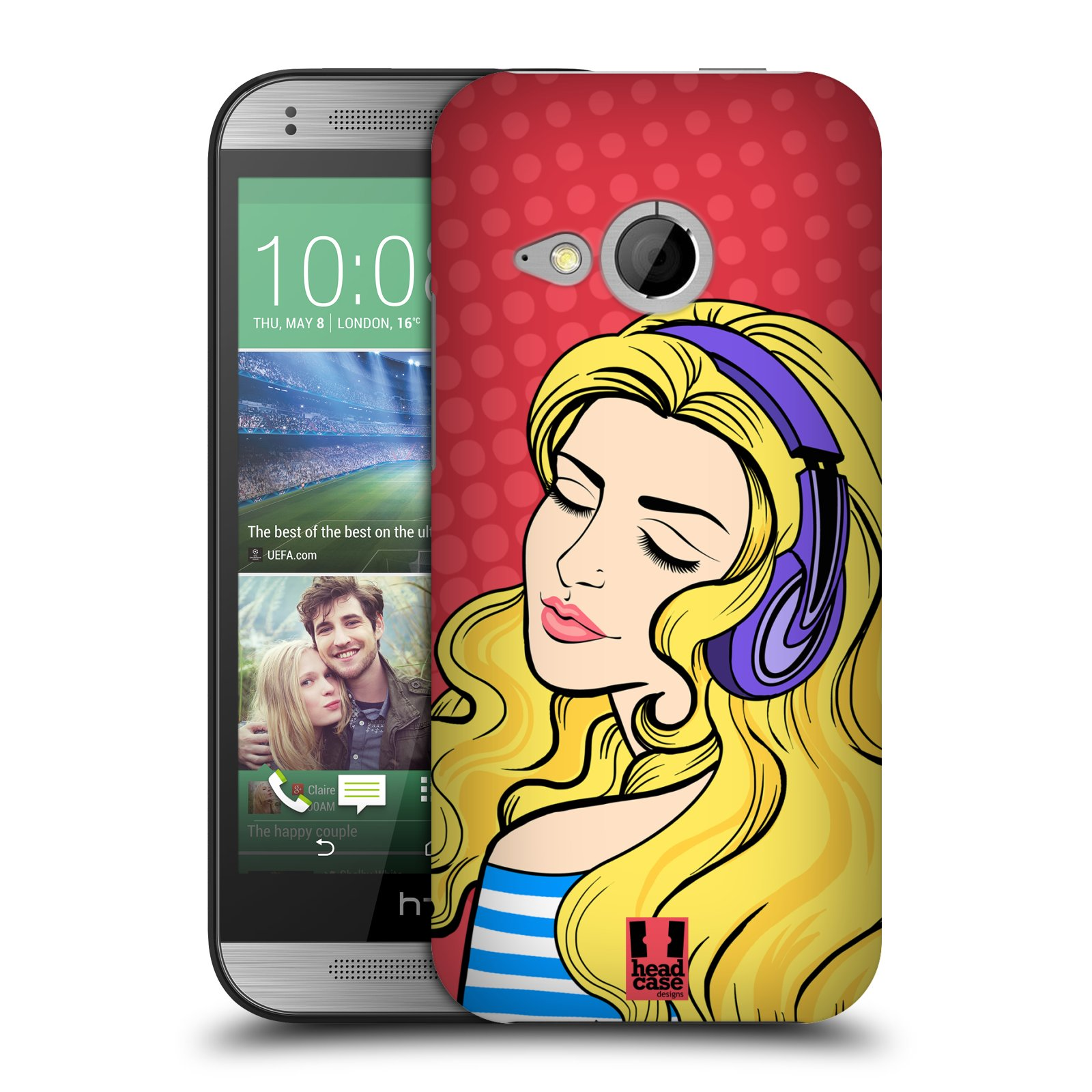HEAD CASE DESIGNS GRAPHIC POP HARD BACK CASE FOR HTC ONE MINI 2