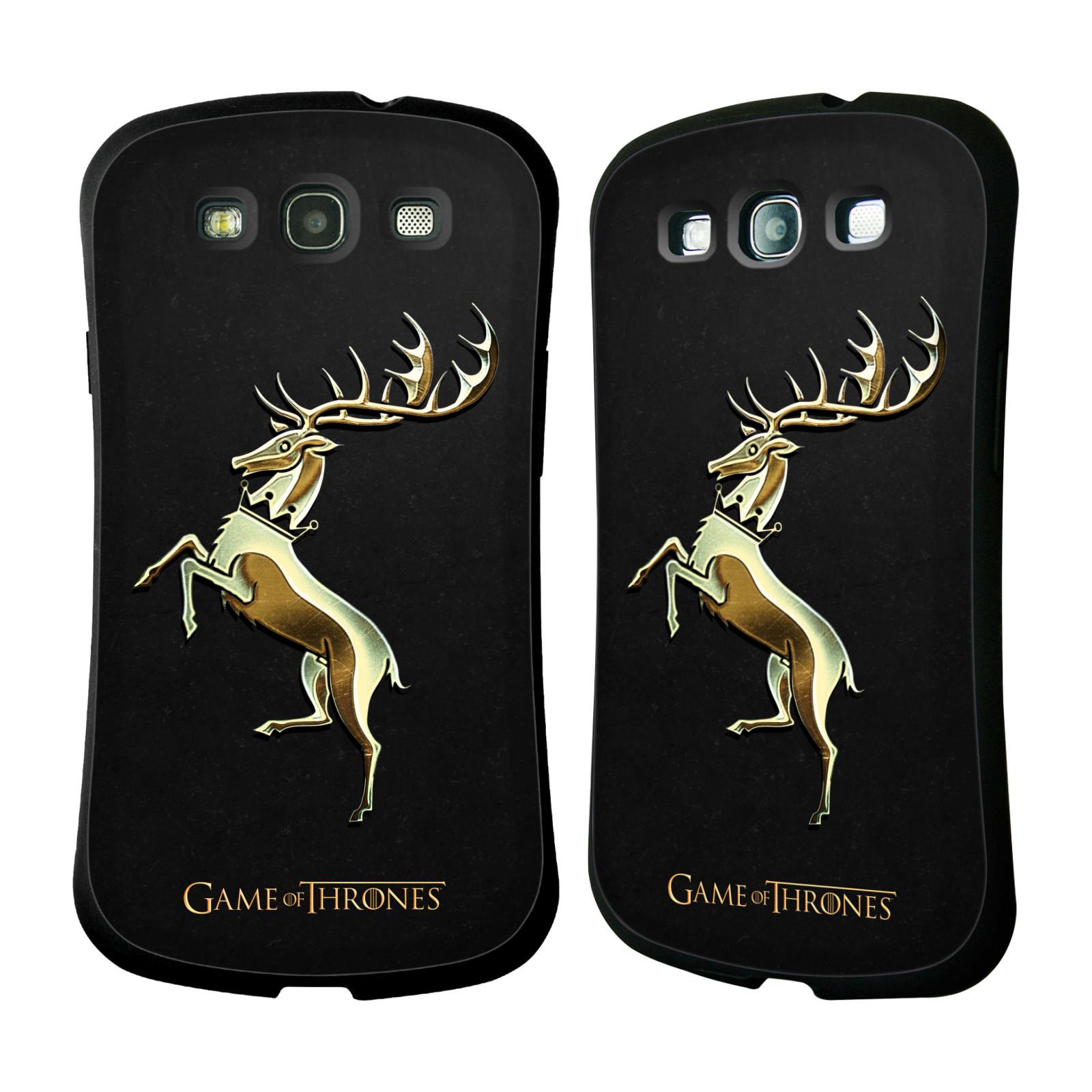 HEAD CASE silikon/plast odolný obal na mobil Samsung Galaxy S3 i9300 / S3 NEO Hra o trůny Znaky rodů zlatý znak Rod Baratheonů