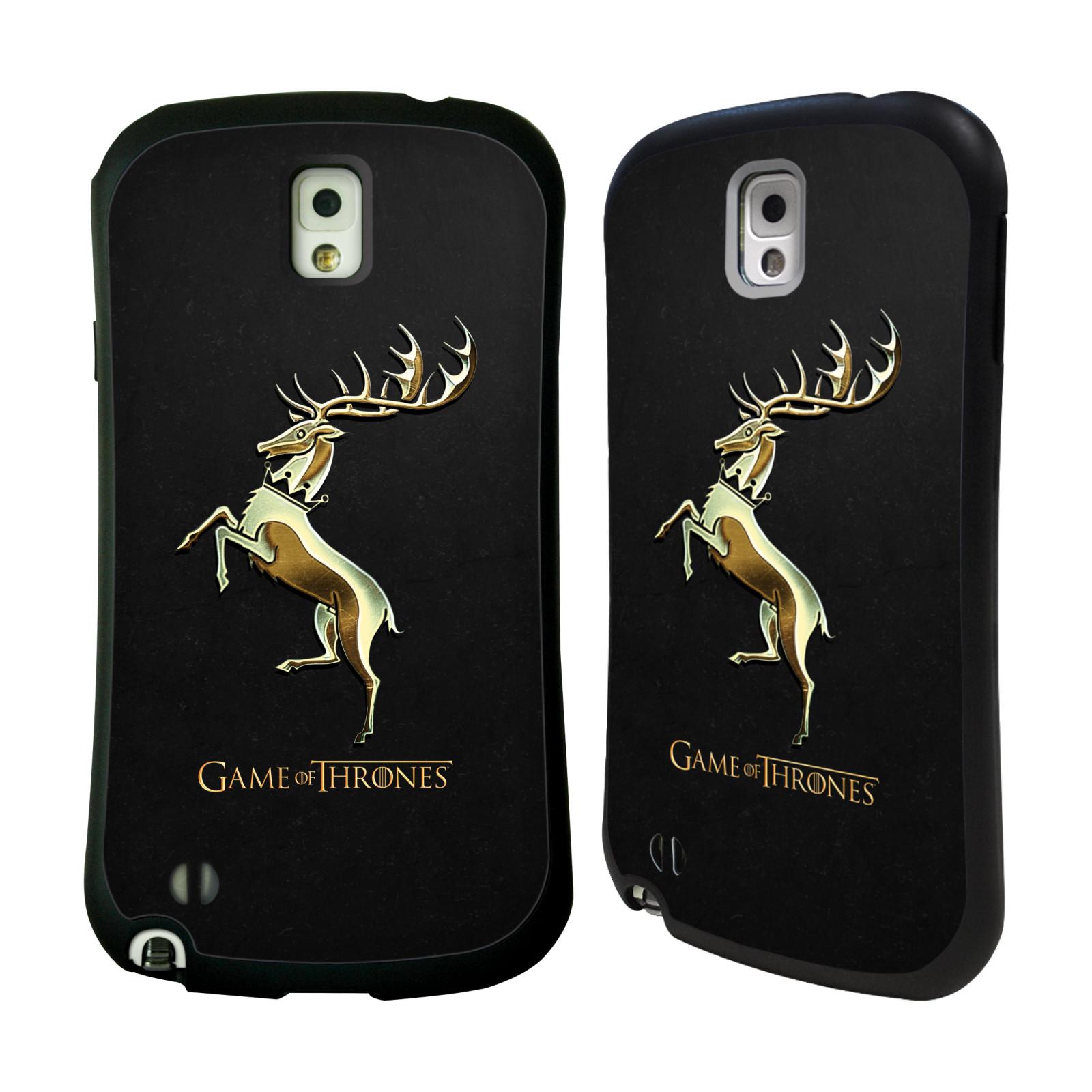 HEAD CASE silikon/plast odolný obal na mobil Samsung Galaxy NOTE 3 (N9005) Hra o trůny Znaky rodů zlatý znak Rod Baratheonů