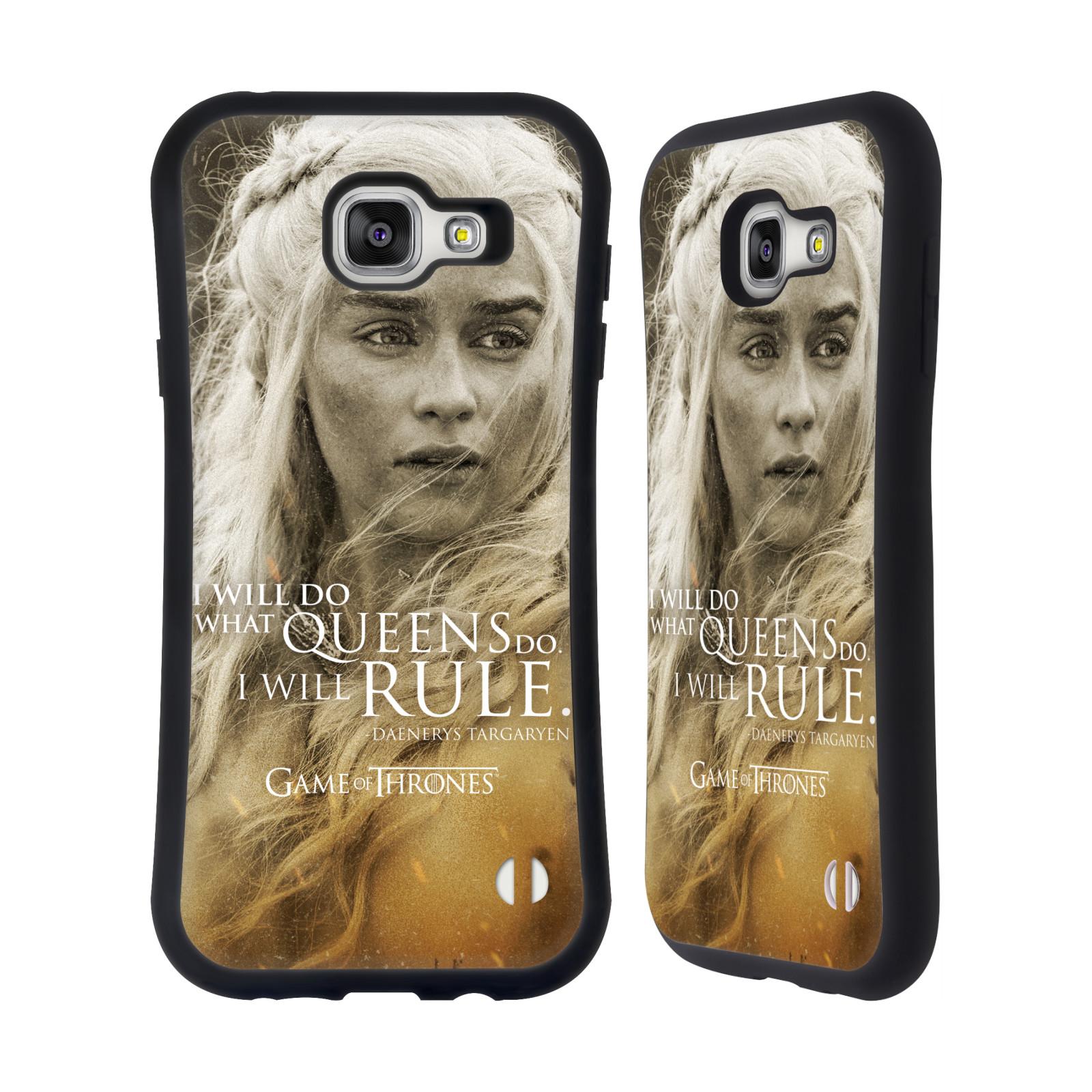 HEAD CASE silikon/plast odolný obal na mobil Samsung Galaxy A7 2016 (A710F) Hra o trůny postava Daenerys Targaryen matka draků