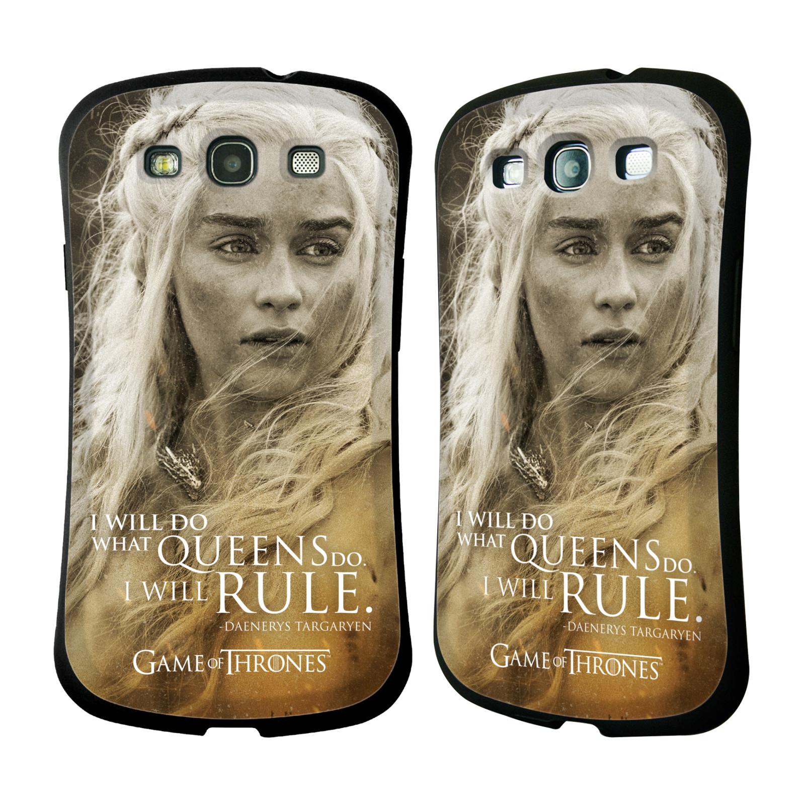 HEAD CASE silikon/plast odolný obal na mobil Samsung Galaxy S3 i9300 / S3 NEO Hra o trůny postava Daenerys Targaryen matka draků