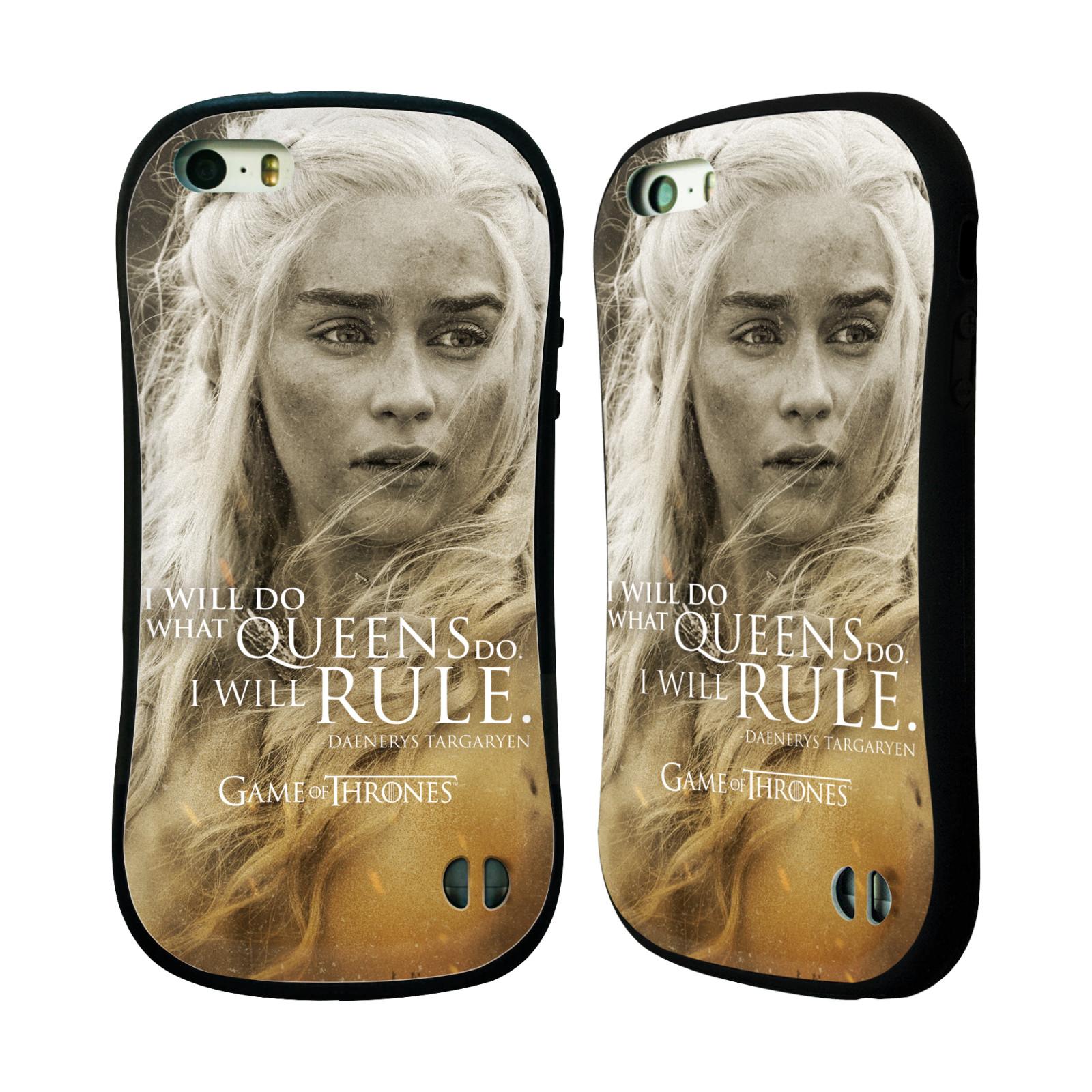 HEAD CASE silikon/plast odolný obal na mobil Apple Iphone 5 / 5S Hra o trůny postava Daenerys Targaryen matka draků