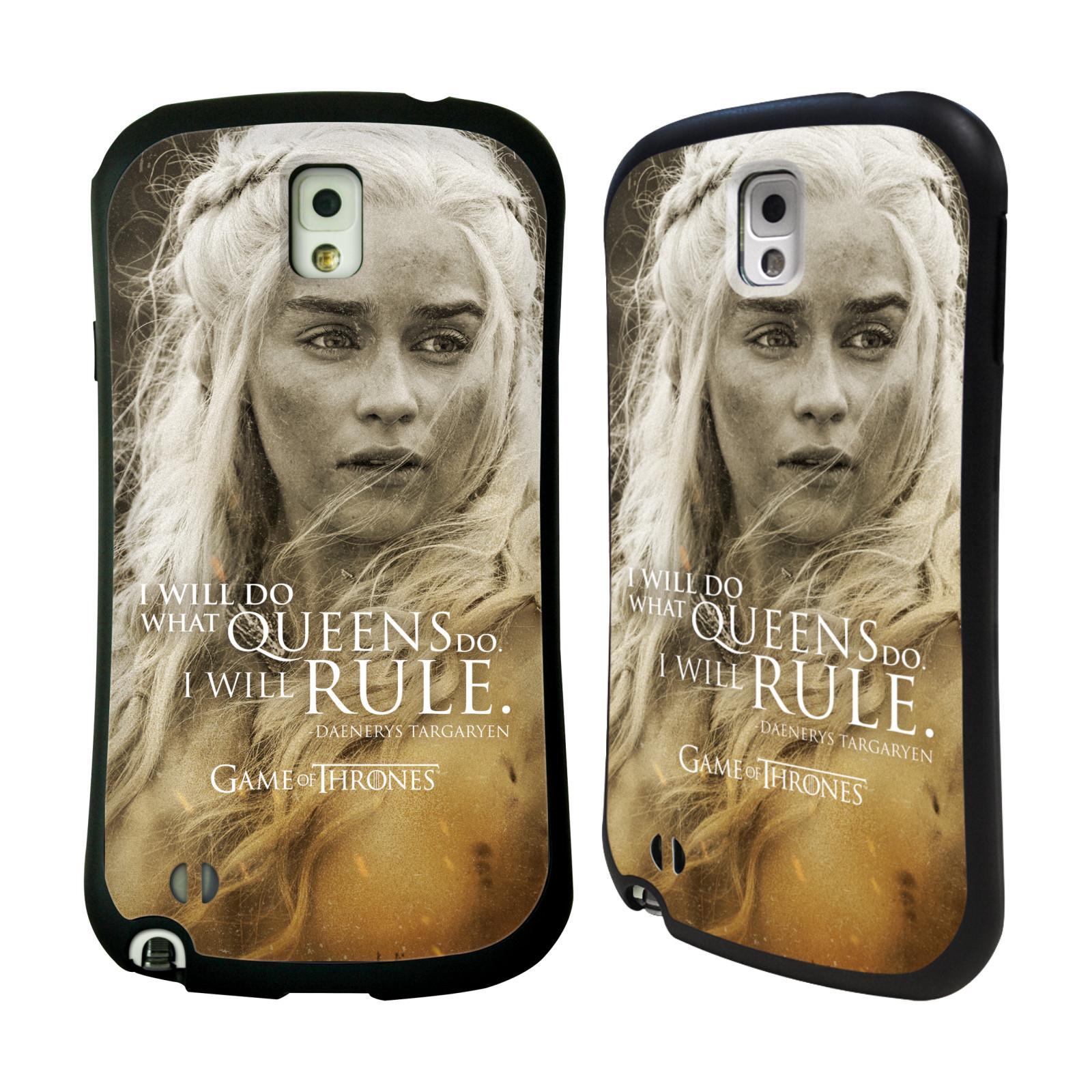 HEAD CASE silikon/plast odolný obal na mobil Samsung Galaxy NOTE 3 (N9005) Hra o trůny postava Daenerys Targaryen matka draků