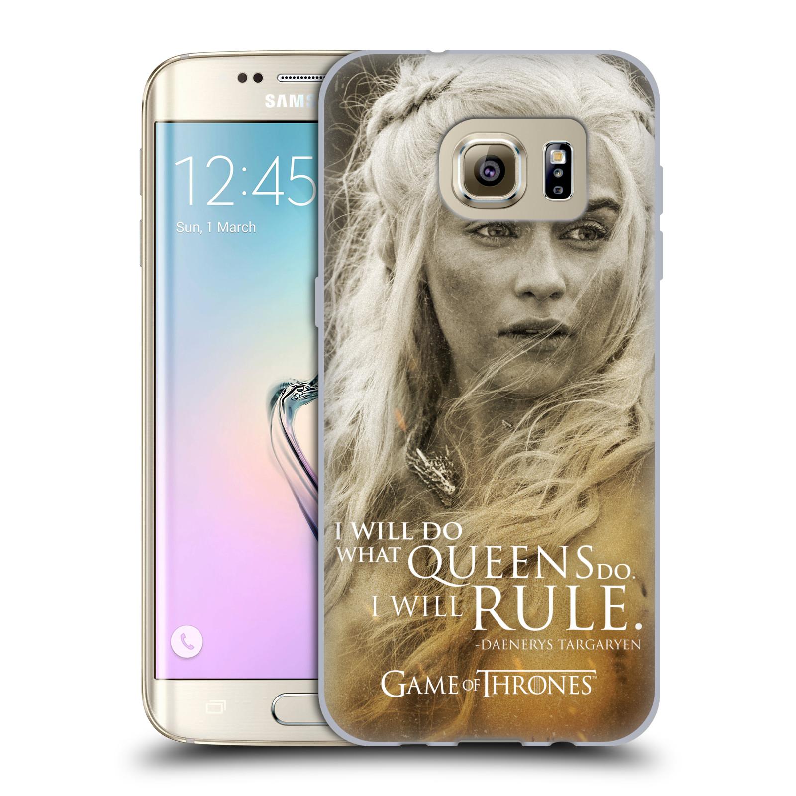 Silikonové pouzdro na mobil Samsung Galaxy S7 Edge HEAD CASE Hra o trůny - Daenerys Targaryen