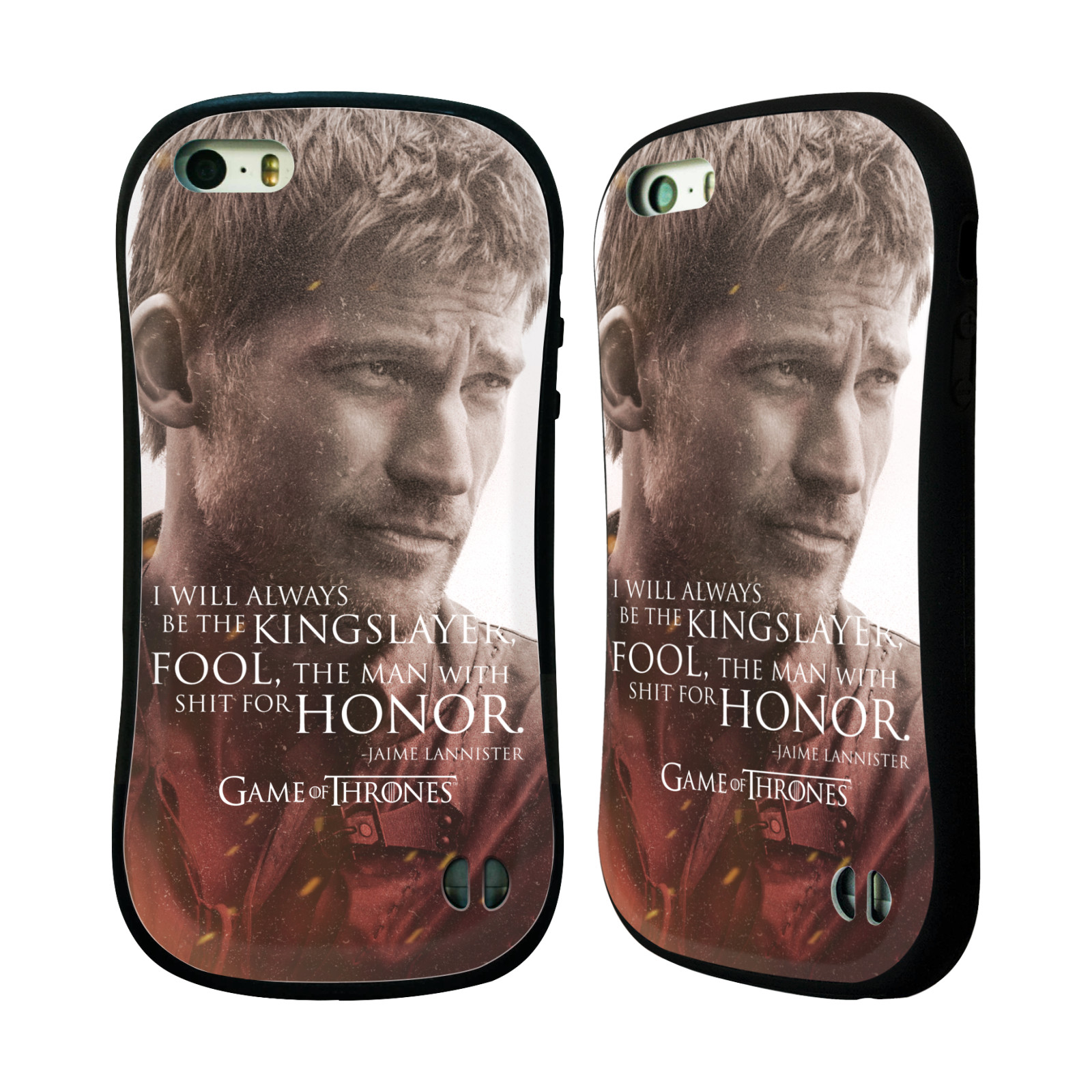 HEAD CASE silikon/plast odolný obal na mobil Apple Iphone 5 / 5S Hra o trůny postava Jaime Lannister králokat