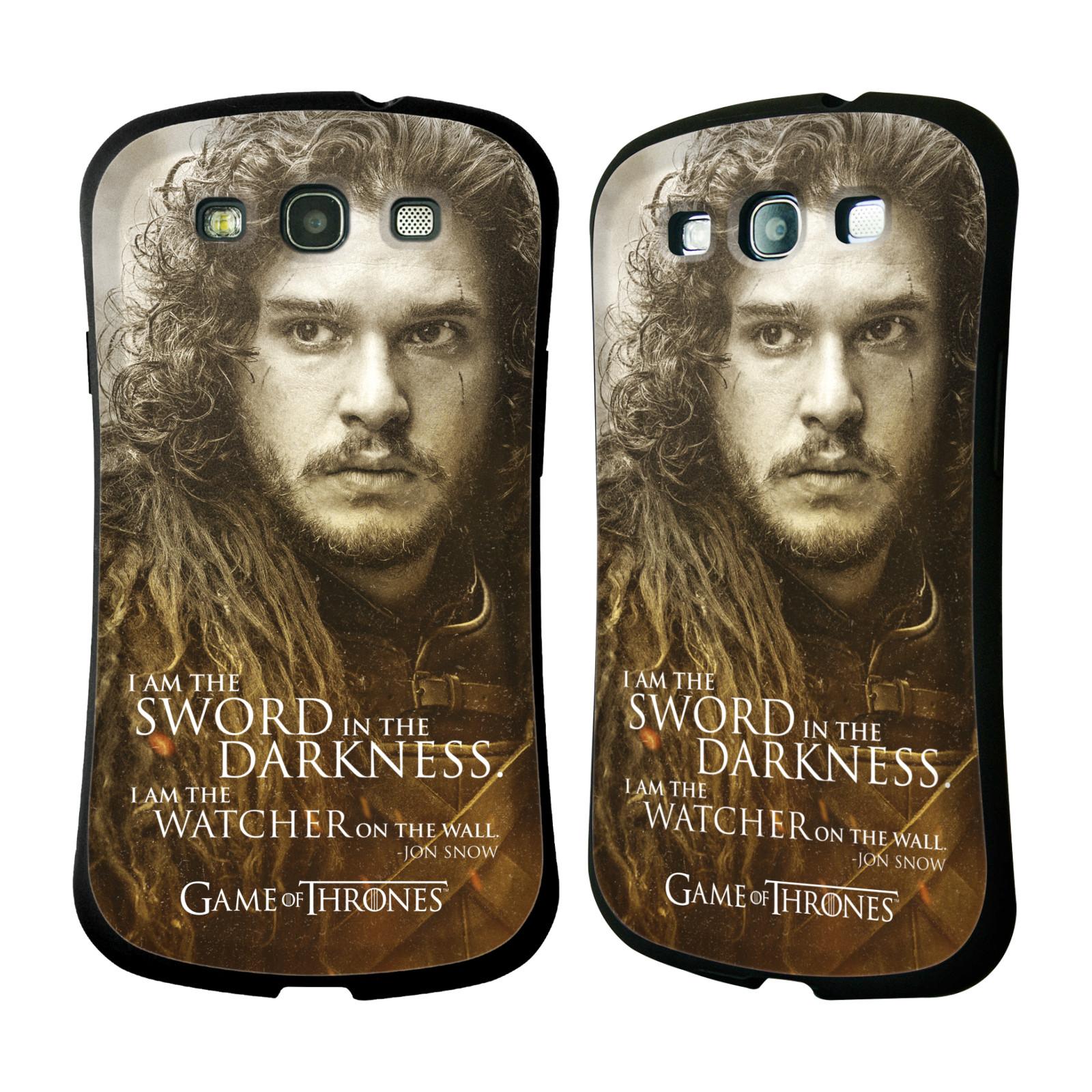 HEAD CASE silikon/plast odolný obal na mobil Samsung Galaxy S3 i9300 / S3 NEO Hra o trůny postavy Jon Sníh