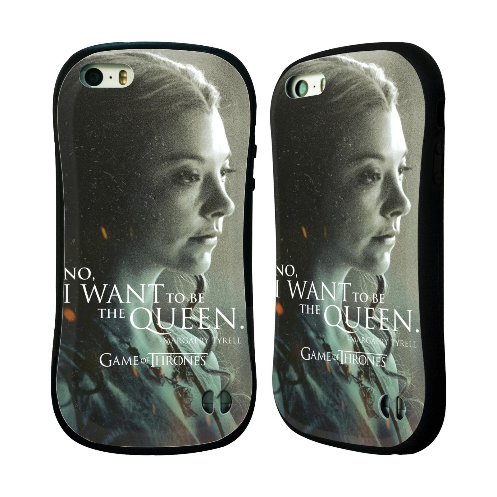HEAD CASE silikon/plast odolný obal na mobil Apple Iphone 5 / 5S Hra o trůny postava chytrá a krásná Margaery Tyrell