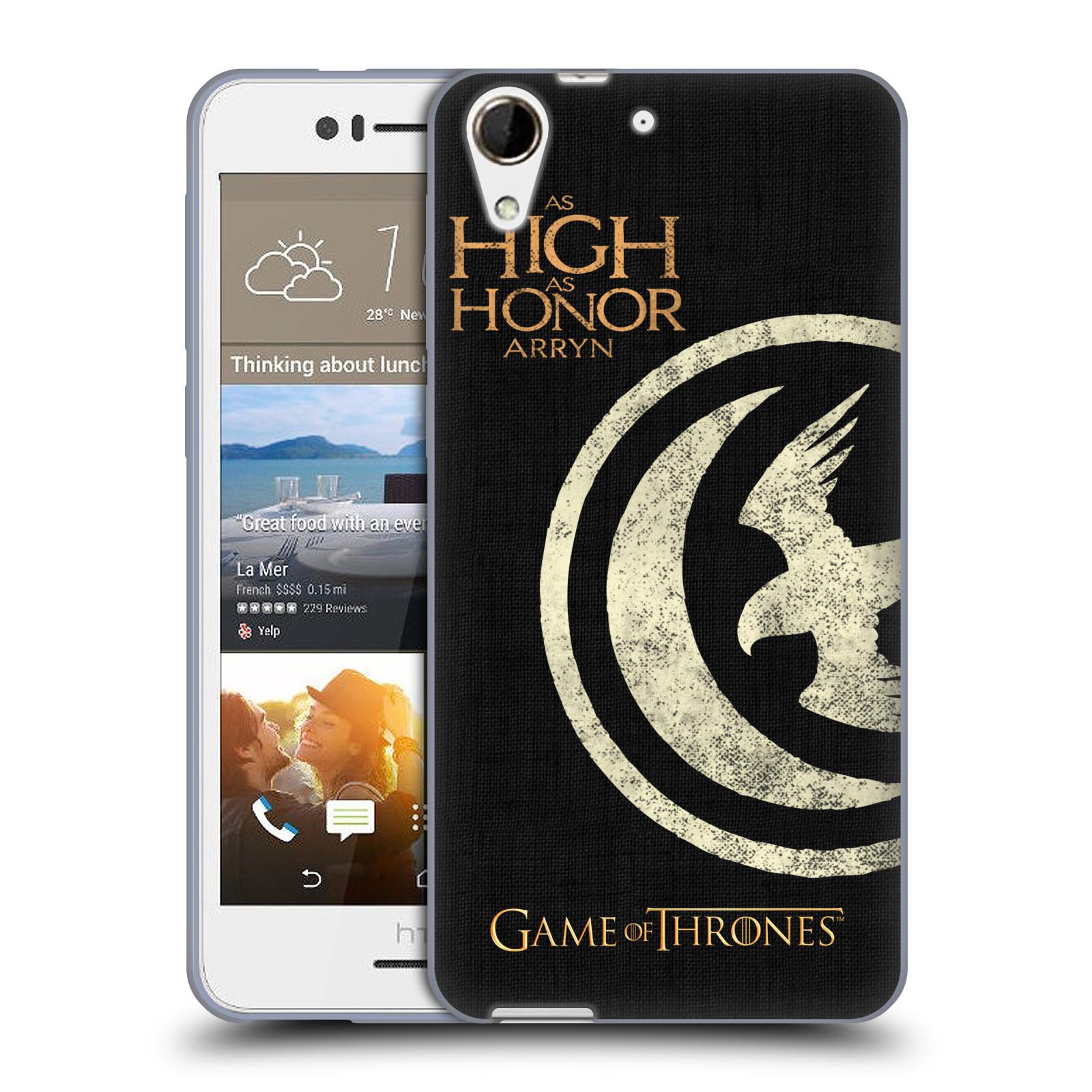 HEAD CASE silikonový obal na mobil HTC Desire 728 oficiální kryt Hra o trůny Rod Arrynů z Orlího hnízda