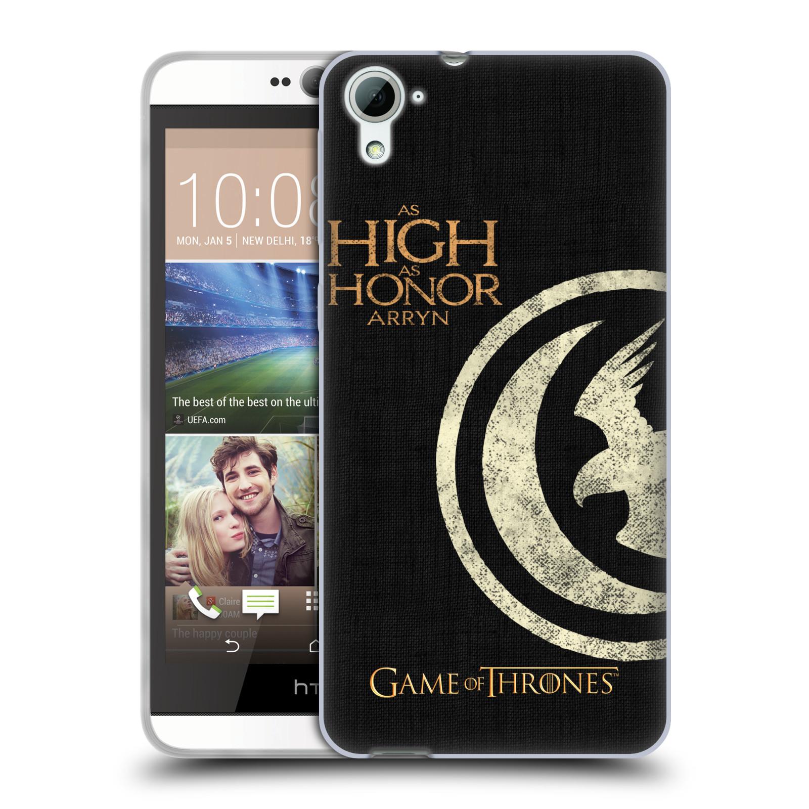 HEAD CASE silikonový obal na mobil HTC Desire 826 oficiální kryt Hra o trůny Rod Arrynů z Orlího hnízda
