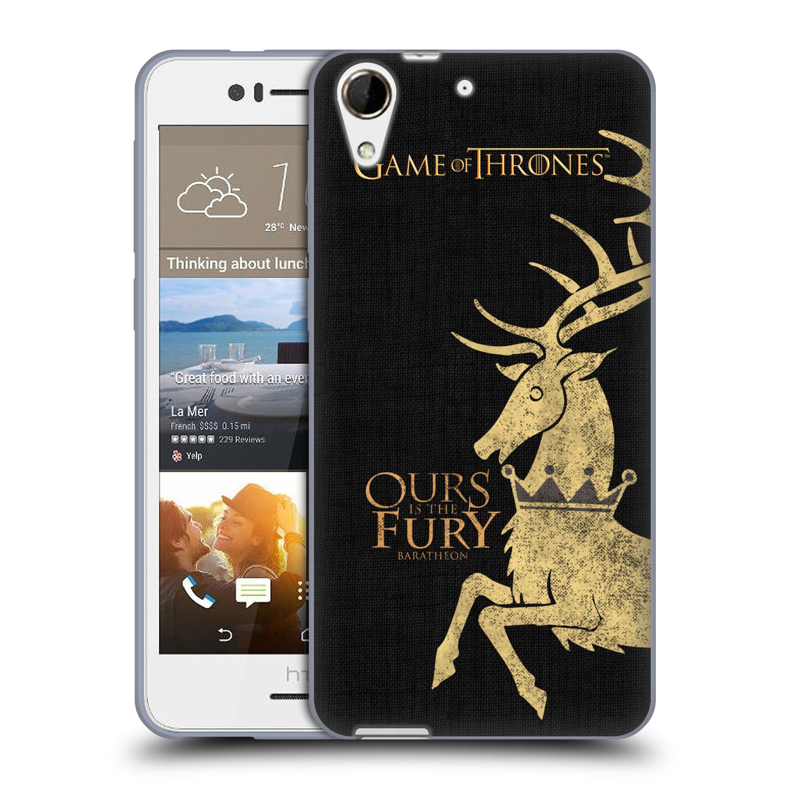 HEAD CASE silikonový obal na mobil HTC Desire 728 oficiální kryt Hra o trůny Rod Baratheonů z Bouřlivého konce