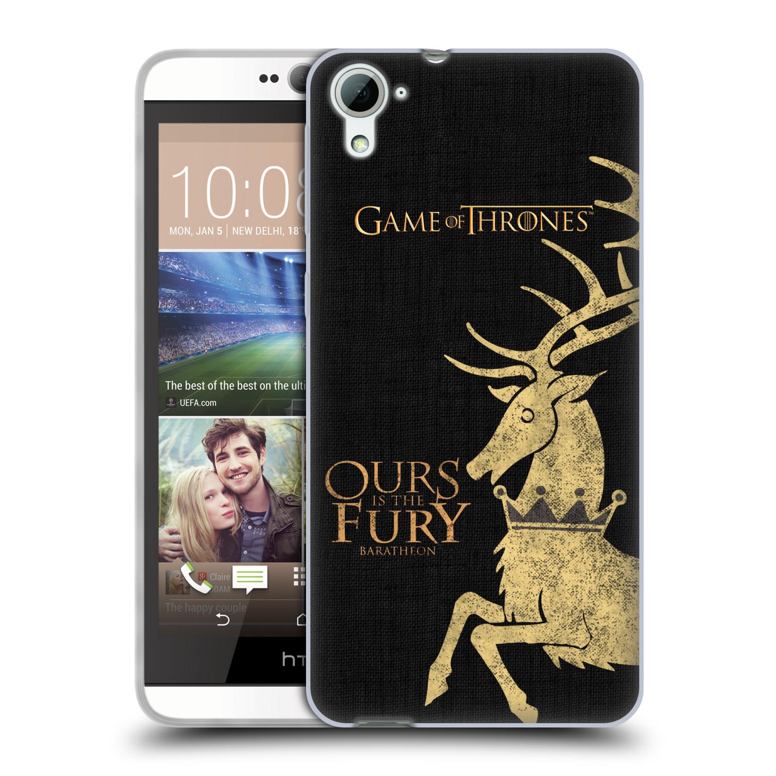 HEAD CASE silikonový obal na mobil HTC Desire 826 oficiální kryt Hra o trůny Rod Baratheonů z Bouřlivého konce