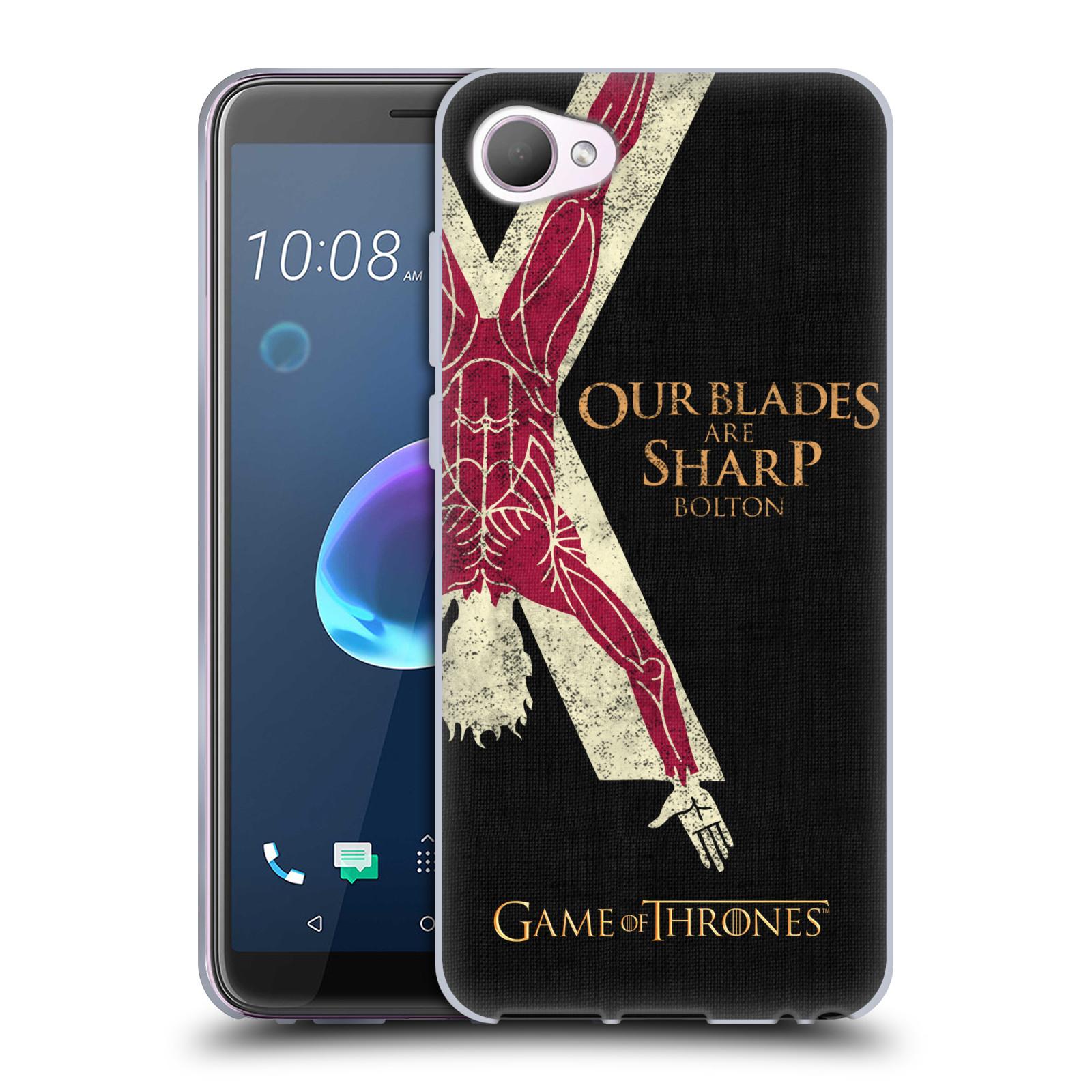 HEAD CASE silikonový obal na mobil HTC Desire 12 / Desire 12 DUAL SIM oficiální kryt Hra o trůny Rod Boltonů z Hrůzova