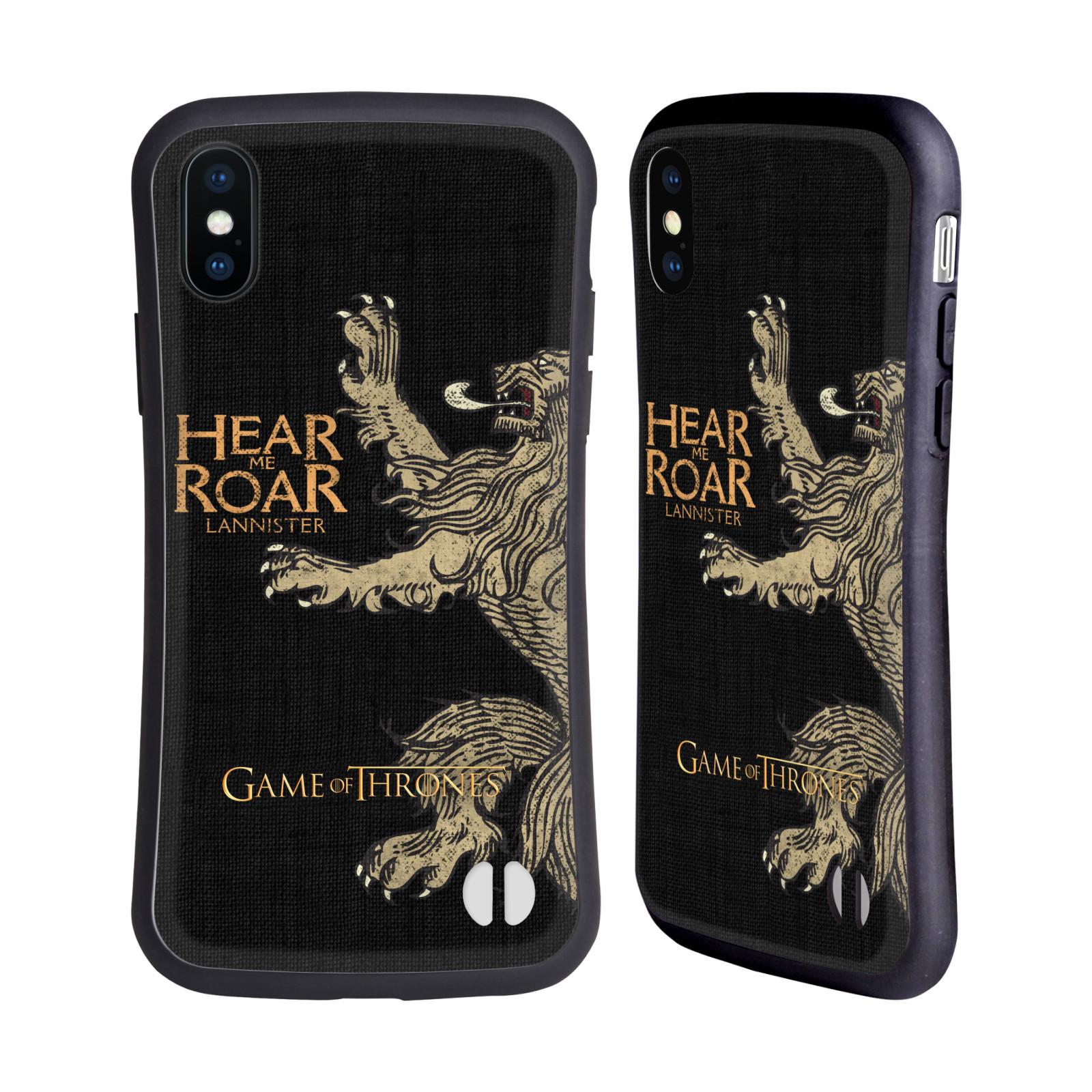 HEAD CASE odolný obal na mobil Apple Iphone X a XS oficiální kryt Hra o trůny Lannisterové z Casterlyovi skály