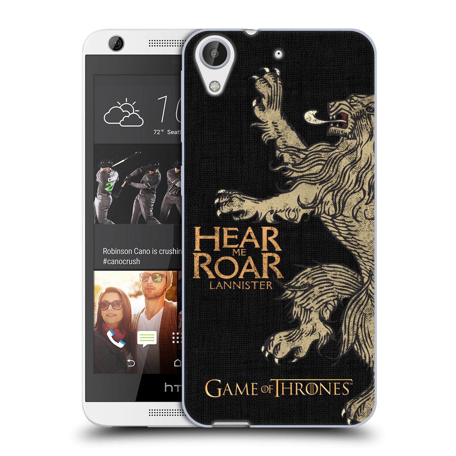 HEAD CASE silikonový obal na mobil HTC Desire 626 oficiální kryt Hra o trůny Lannisterové z Casterlyovi skály