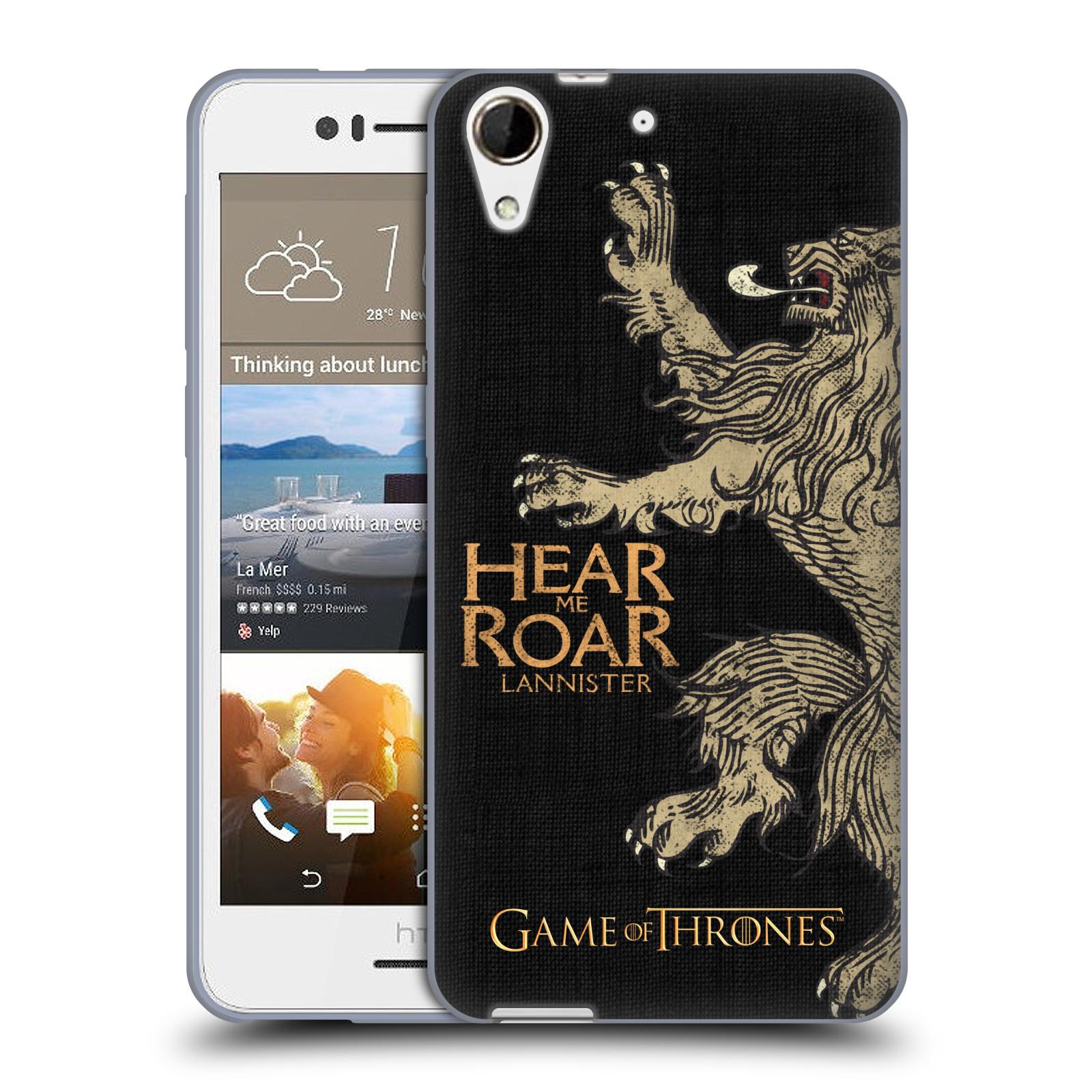 HEAD CASE silikonový obal na mobil HTC Desire 728 oficiální kryt Hra o trůny Lannisterové z Casterlyovi skály