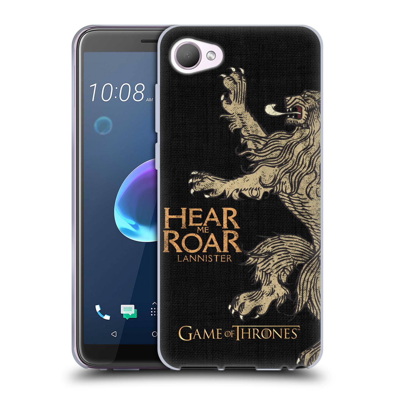 HEAD CASE silikonový obal na mobil HTC Desire 12 / Desire 12 DUAL SIM oficiální kryt Hra o trůny Lannisterové z Casterlyovi skály