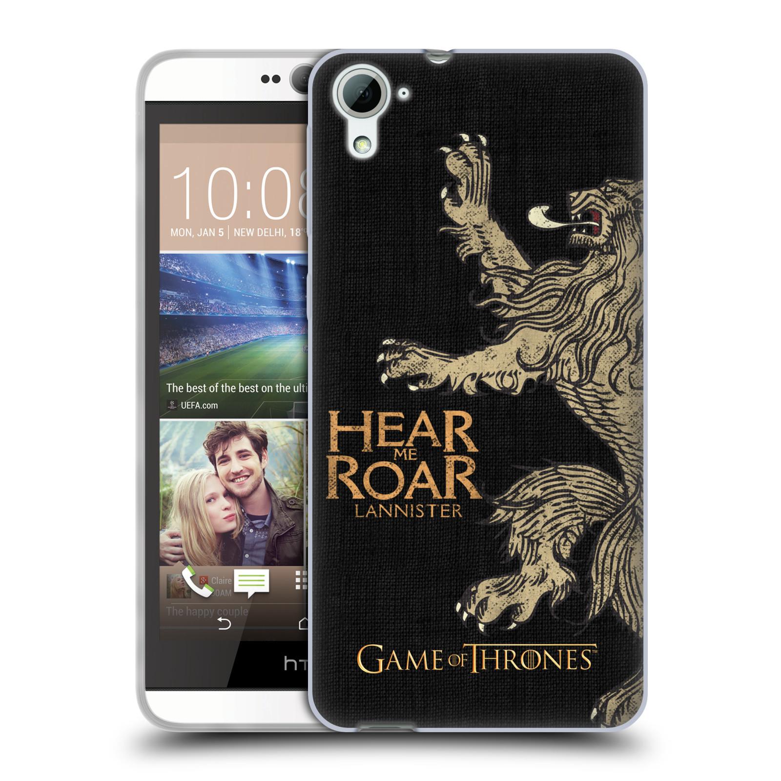 HEAD CASE silikonový obal na mobil HTC Desire 826 oficiální kryt Hra o trůny Lannisterové z Casterlyovi skály
