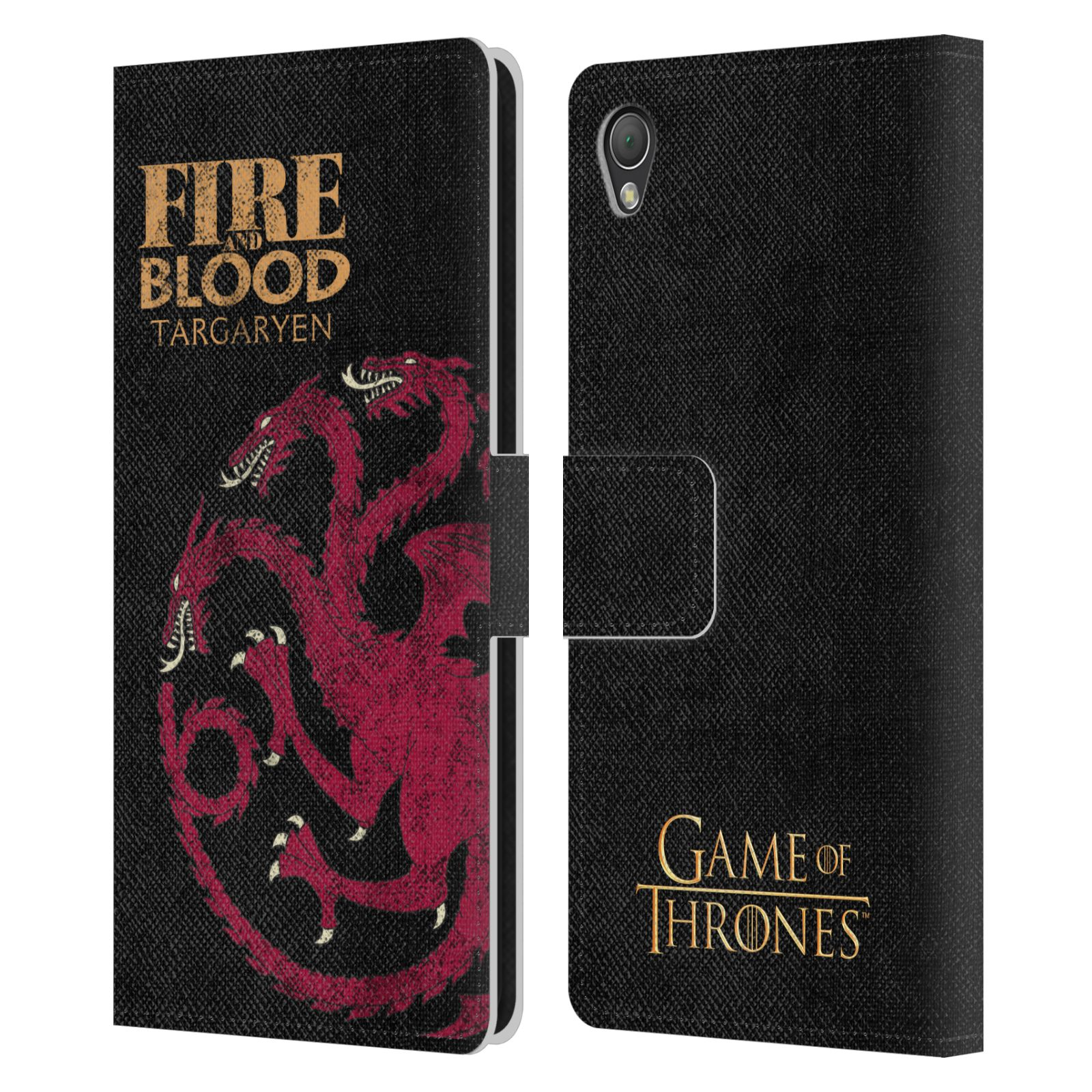 OFFICIAL HBO GAME OF THRONES HOUSE MOTTOS LEATHER BOOK CASE FOR SONY PHONES 1