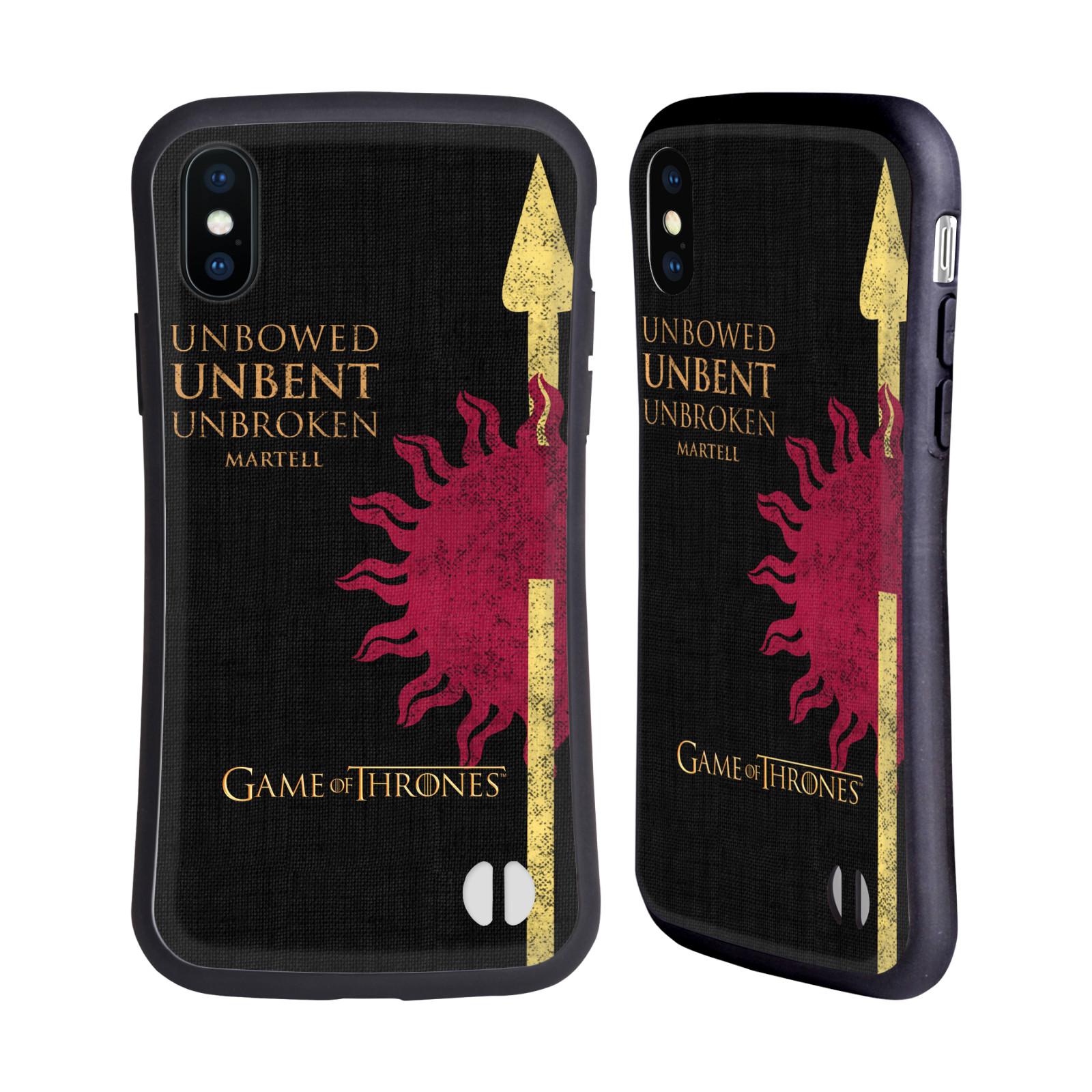 HEAD CASE odolný obal na mobil Apple Iphone X a XS oficiální kryt Hra o trůny Martellové z Dorne