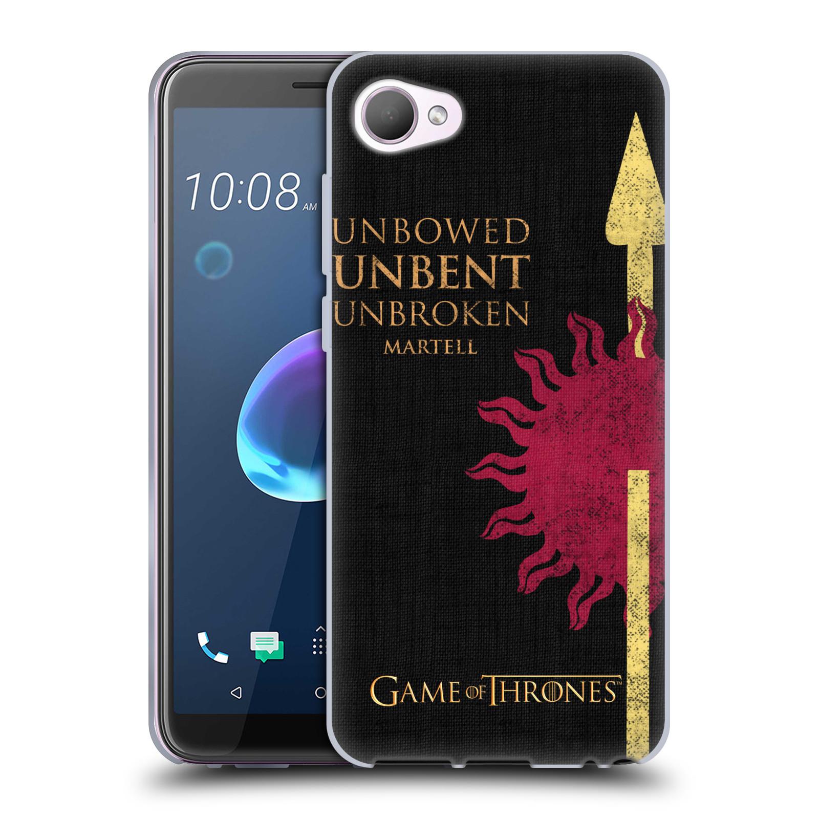 HEAD CASE silikonový obal na mobil HTC Desire 12 / Desire 12 DUAL SIM oficiální kryt Hra o trůny Martellové z Dorne