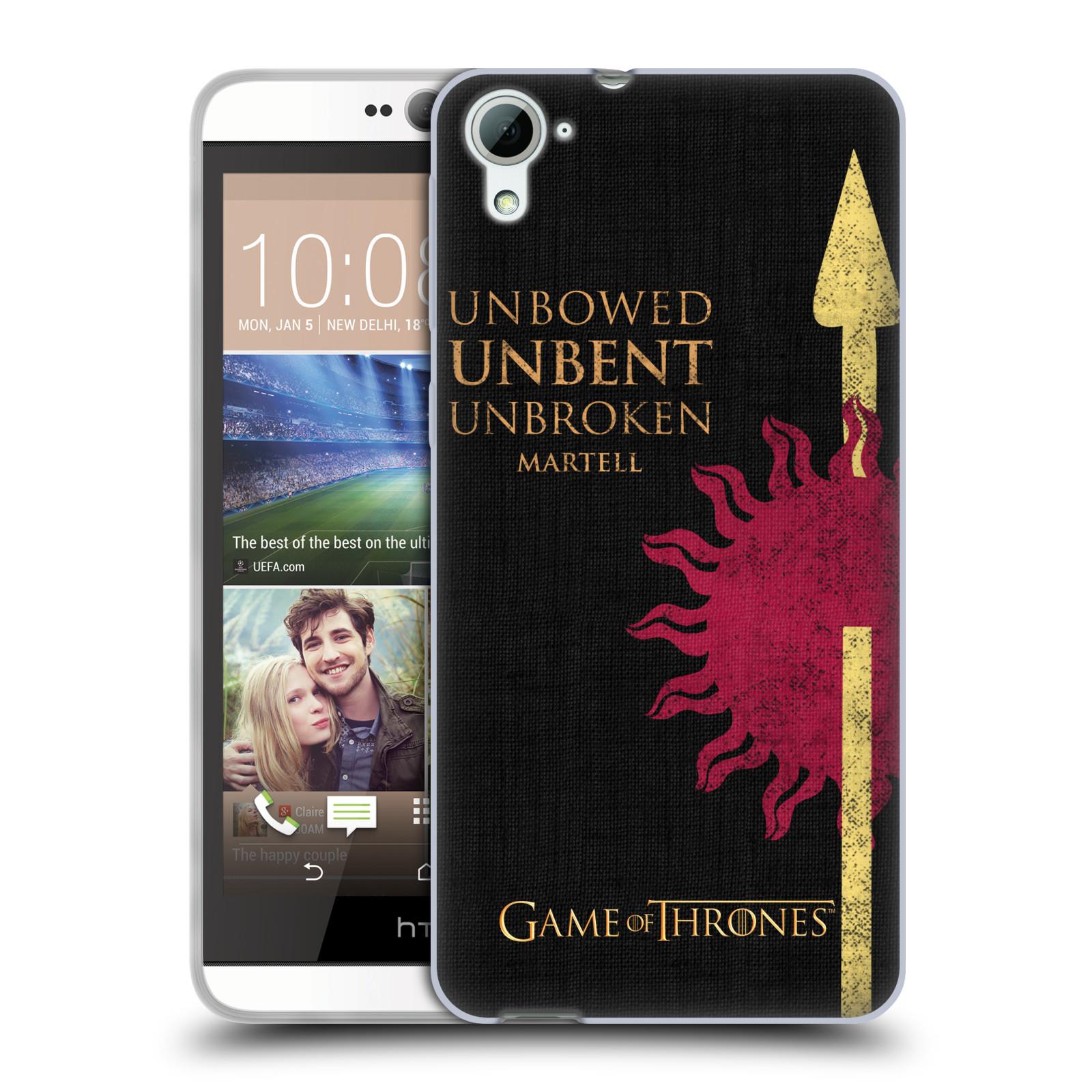 HEAD CASE silikonový obal na mobil HTC Desire 826 oficiální kryt Hra o trůny Martellové z Dorne
