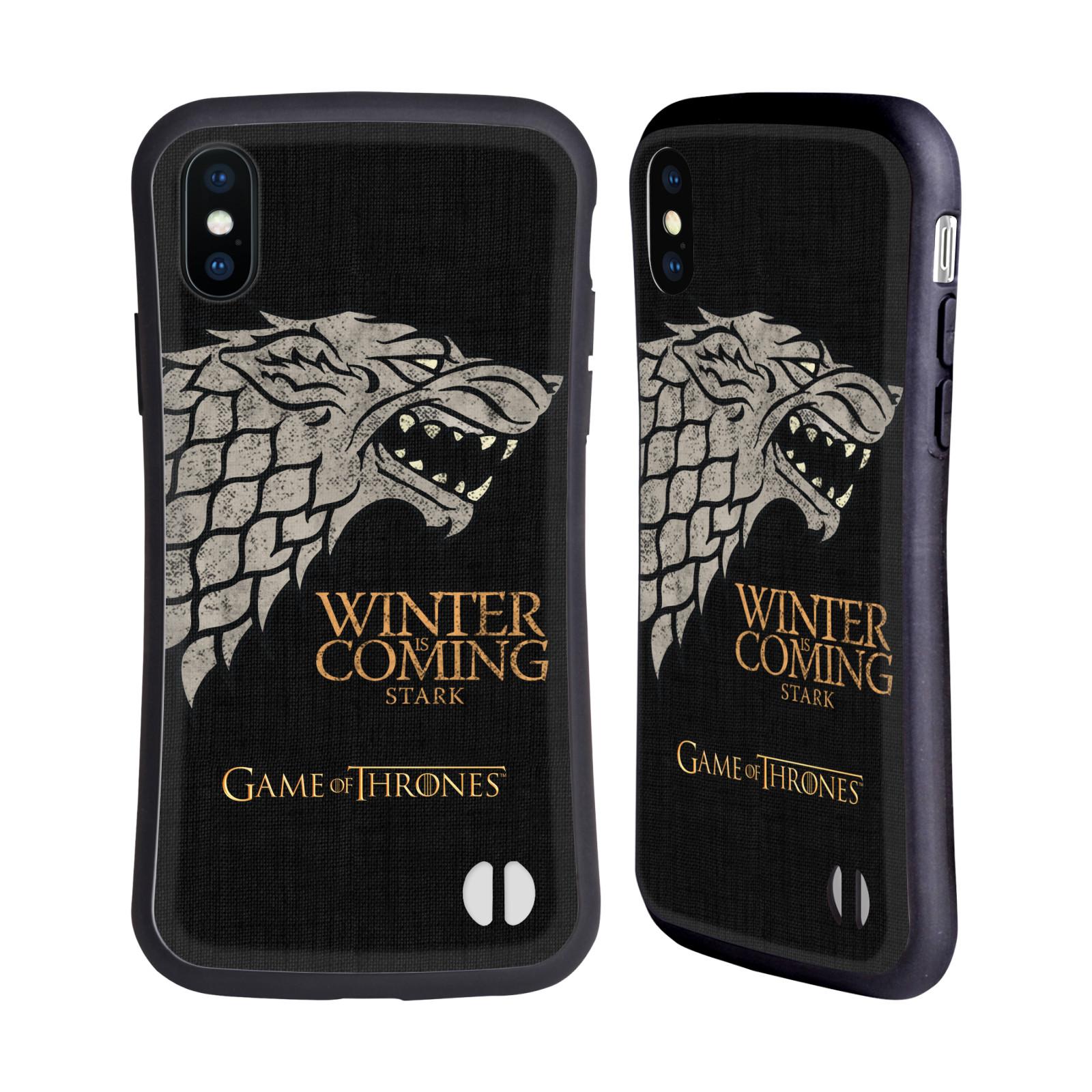 HEAD CASE odolný obal na mobil Apple Iphone X a XS oficiální kryt Hra o trůny Starkové ze Zimohradu