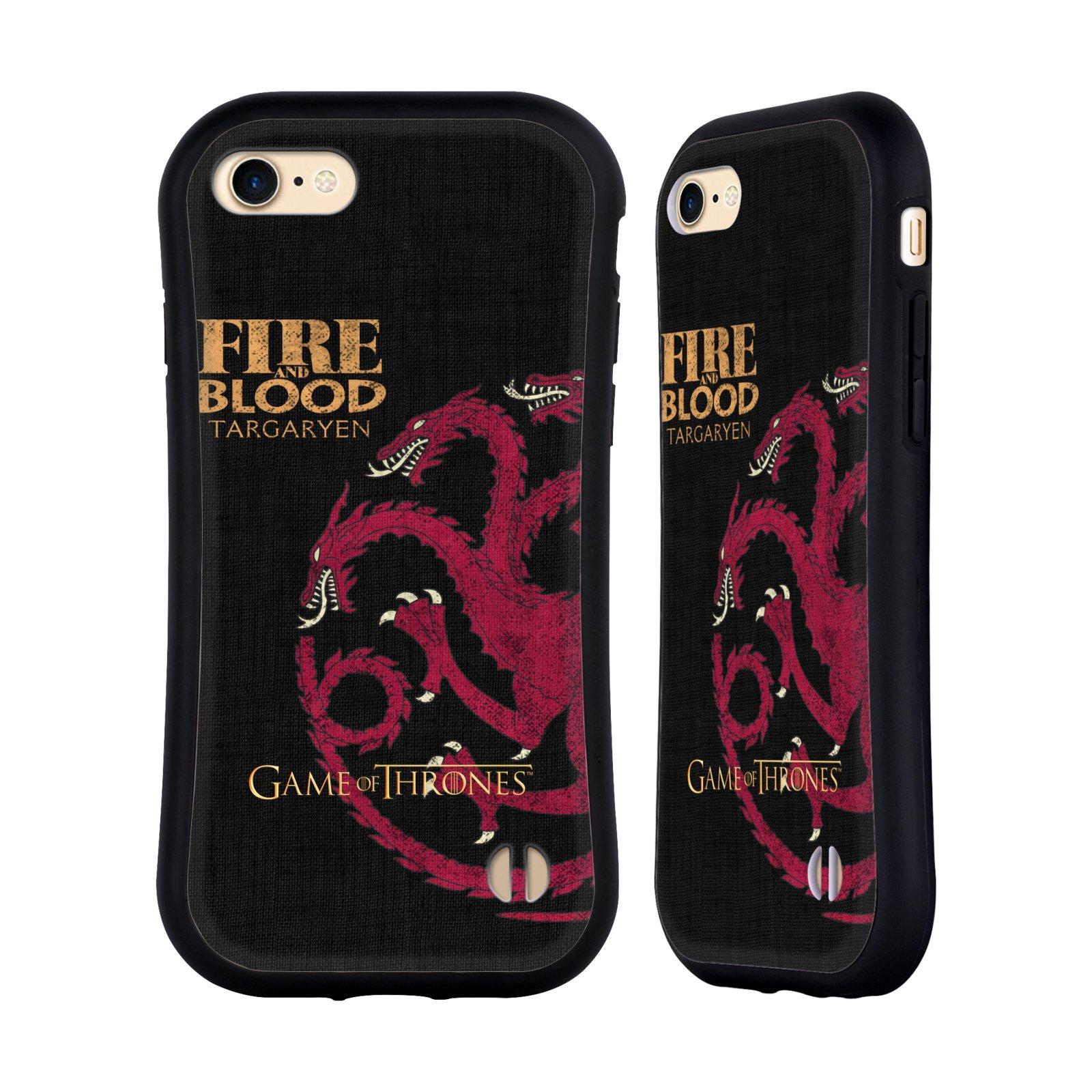 HEAD CASE odolný obal na mobil Apple Iphone 8 oficiální kryt Hra o trůny Rod Targaryenů z Dračího kamene