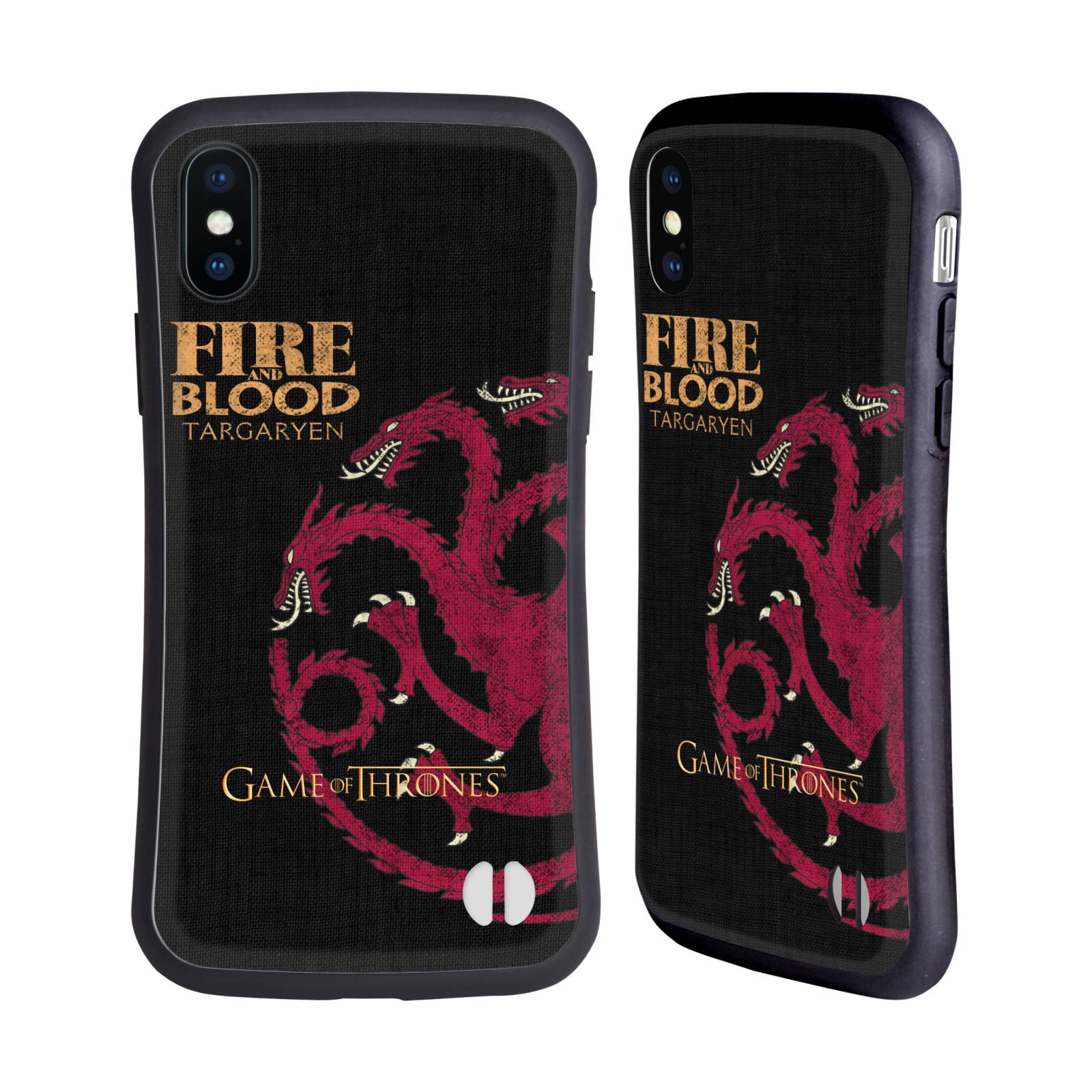 HEAD CASE odolný obal na mobil Apple Iphone X a XS oficiální kryt Hra o trůny Rod Targaryenů z Dračího kamene